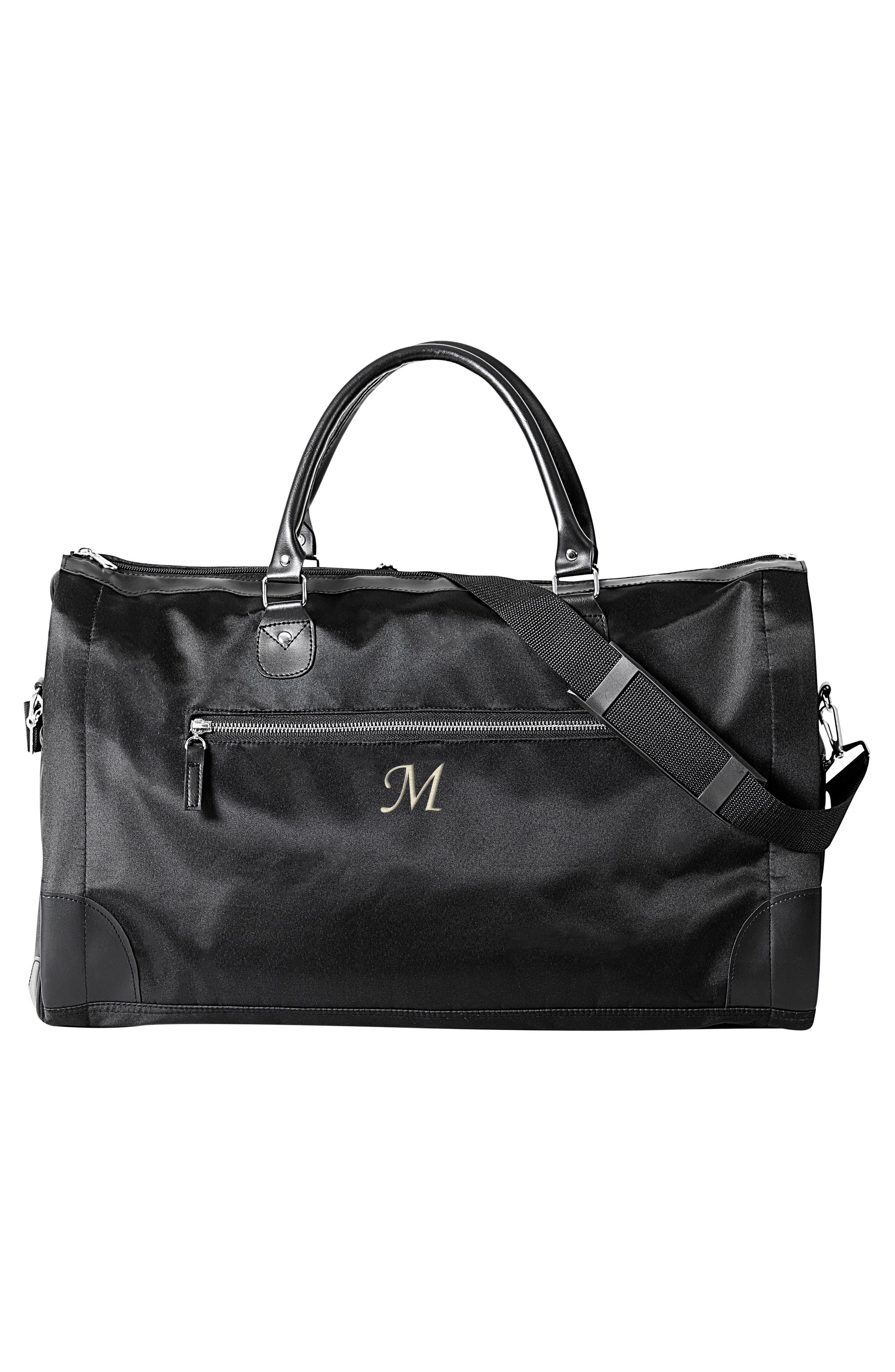 Monogram Duffel/Garment Bag,                             Alternate thumbnail 6, color,                             BLACK