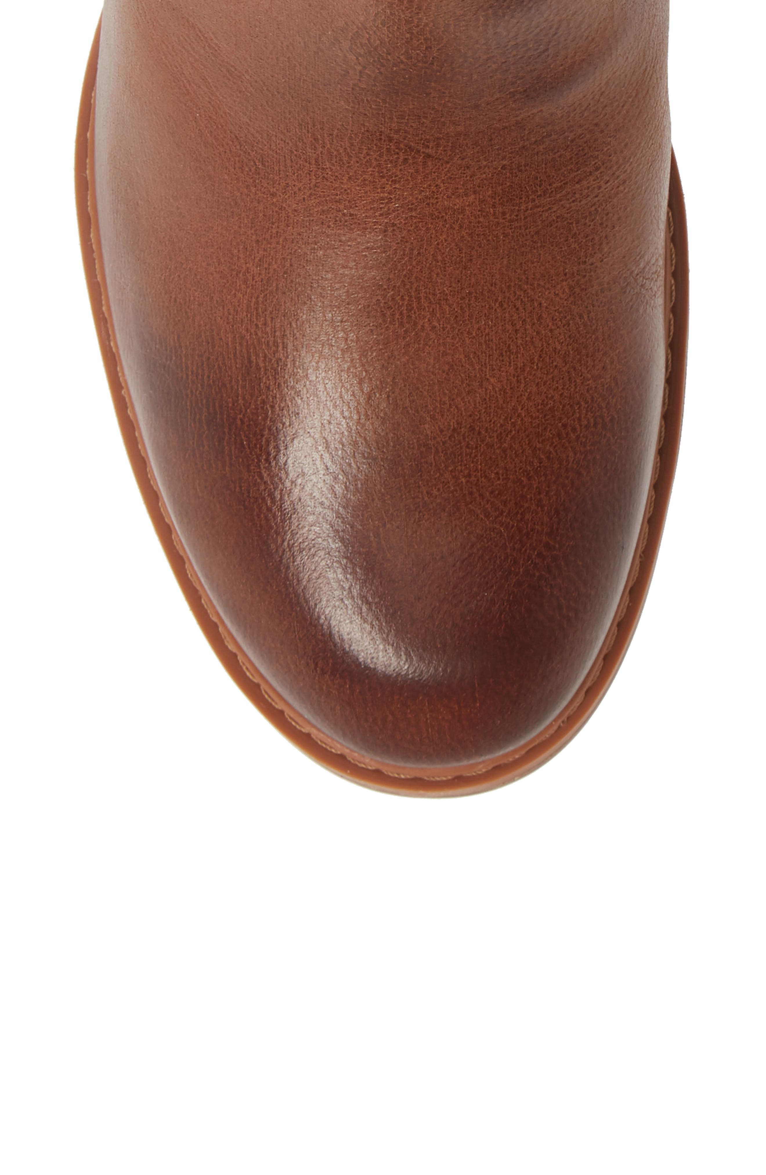Sutherlin Bay Water Resistant Bootie,                             Alternate thumbnail 5, color,                             ARGAN OIL LEATHER
