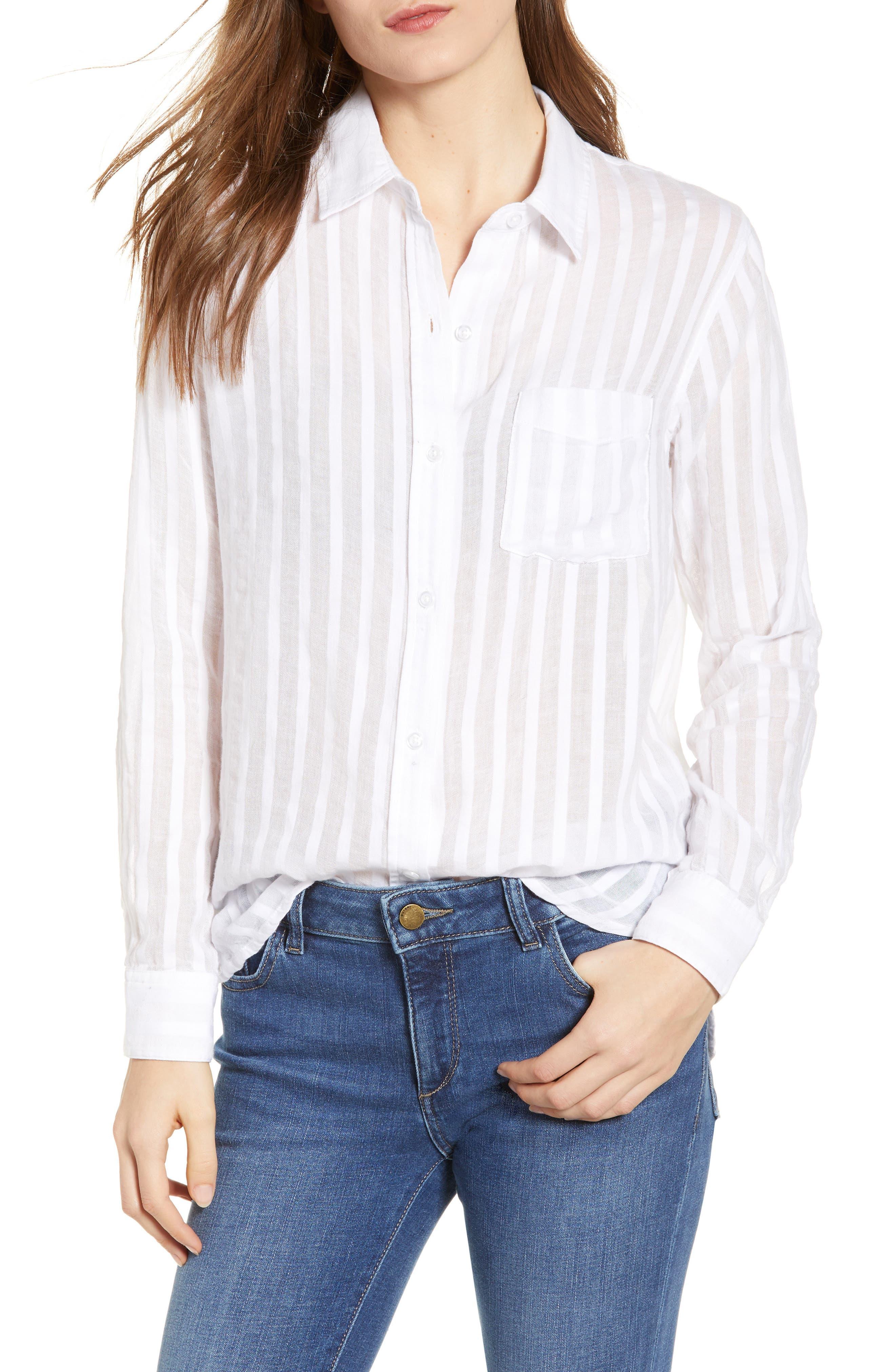 Charli Cotton Shirt,                         Main,                         color, 135
