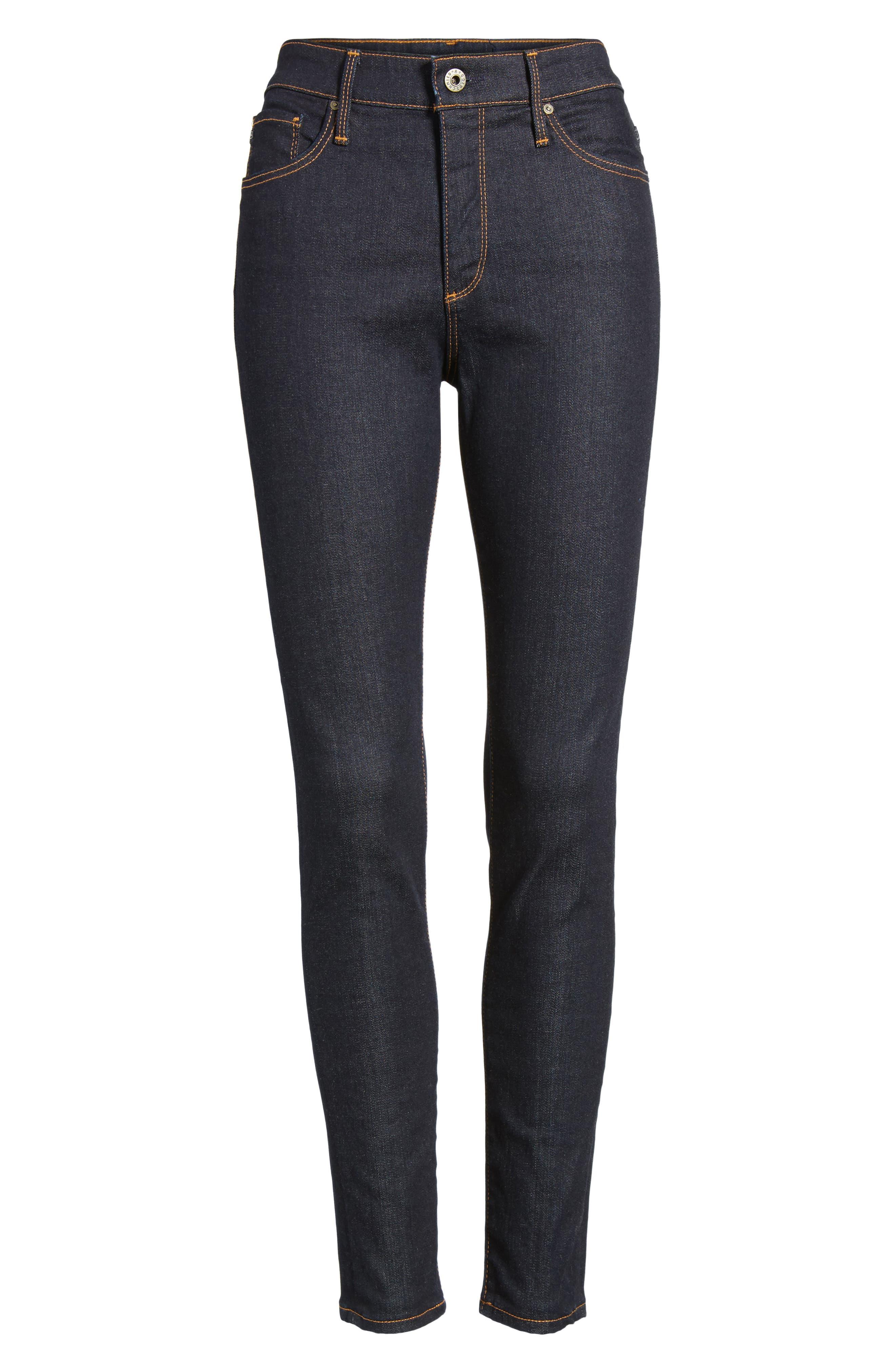 The Farrah Ankle Skinny Jeans,                             Alternate thumbnail 7, color,                             INDIGO SPRING