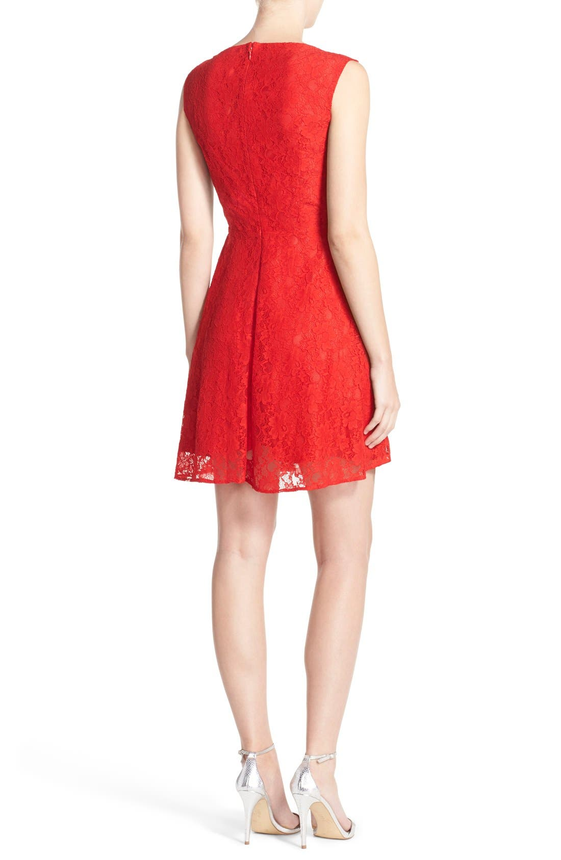 Fit & Flare Dress,                             Alternate thumbnail 10, color,