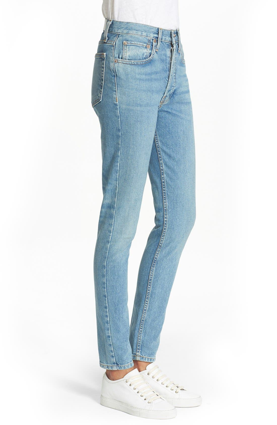 Originals High Rise Stretch Jeans,                             Alternate thumbnail 2, color,                             400