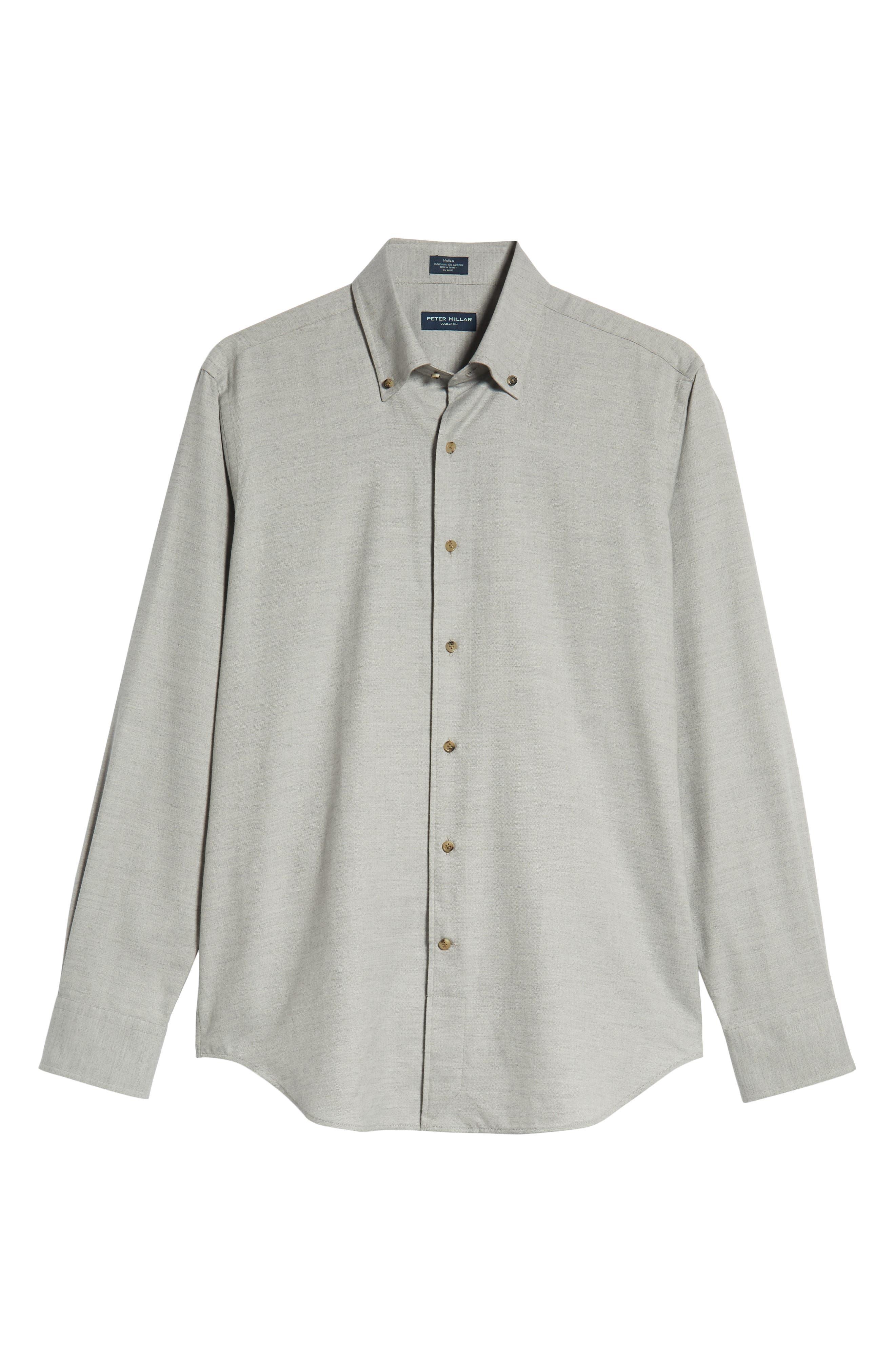 Hamra Regular Fit Sport Shirt,                             Alternate thumbnail 5, color,                             PLATINUM