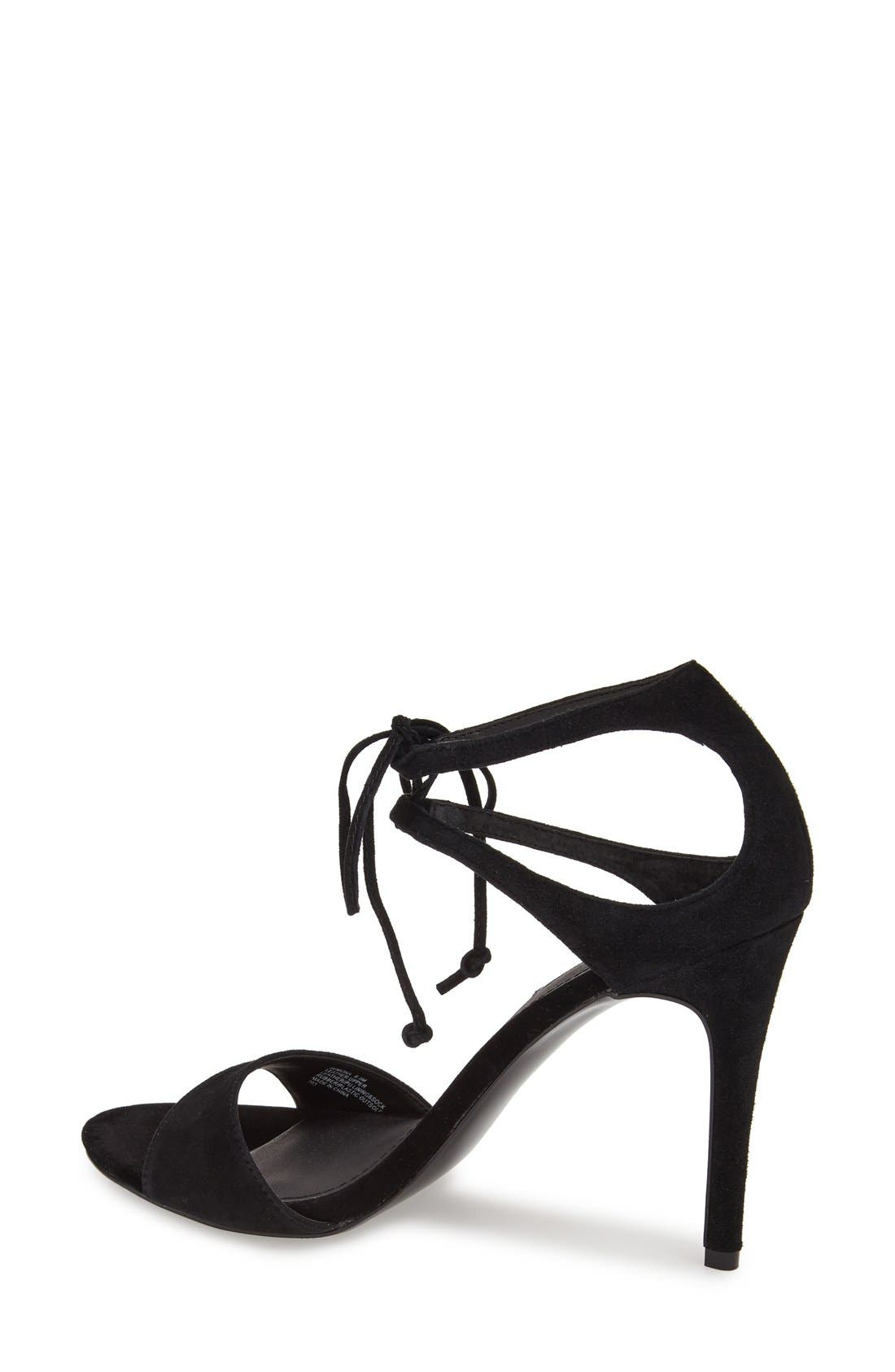 'Semona' Suede Ankle Strap Sandal,                             Alternate thumbnail 2, color,                             001