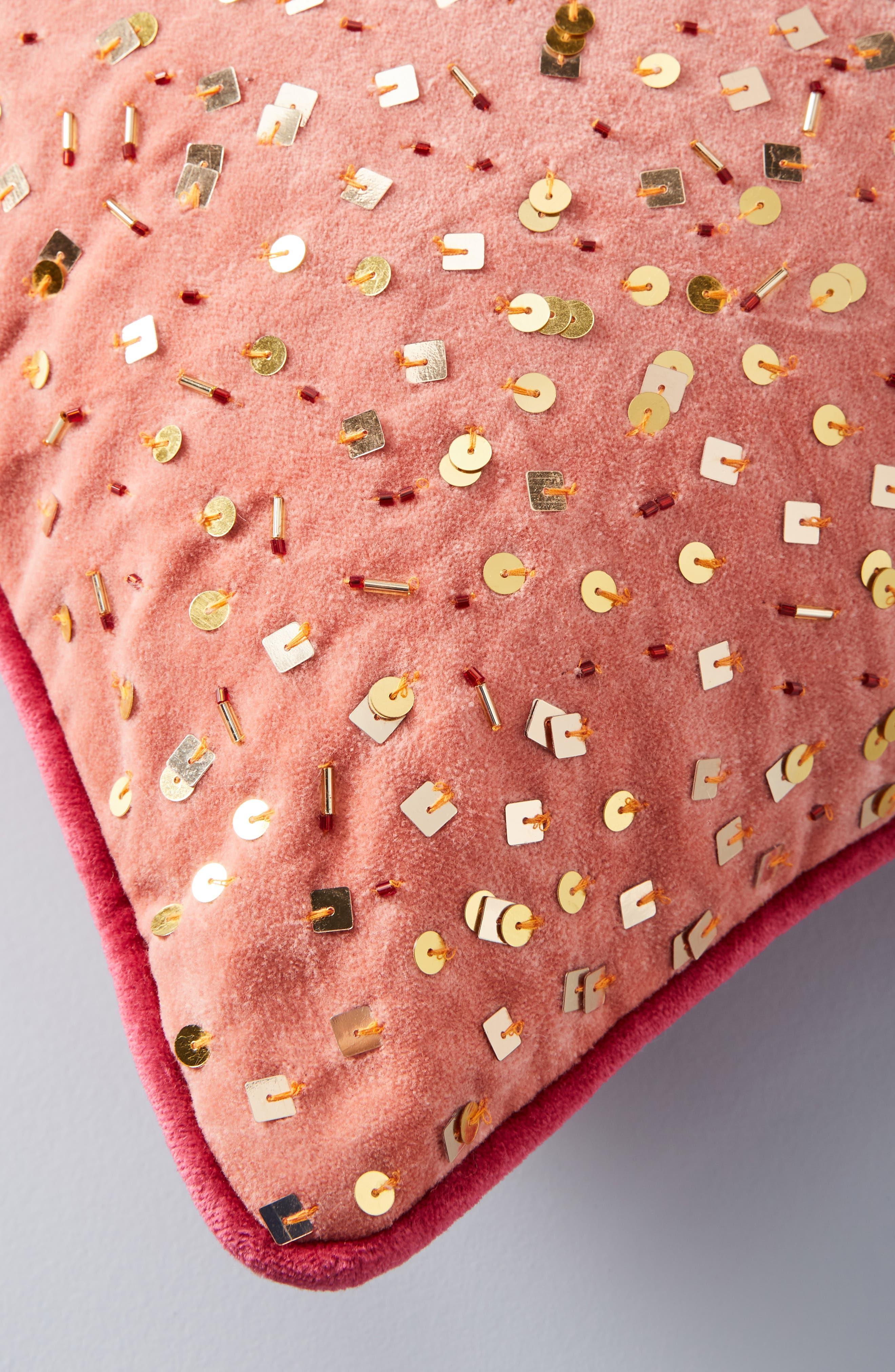 Confetti Velvet Accent Pillow,                             Alternate thumbnail 3, color,                             893