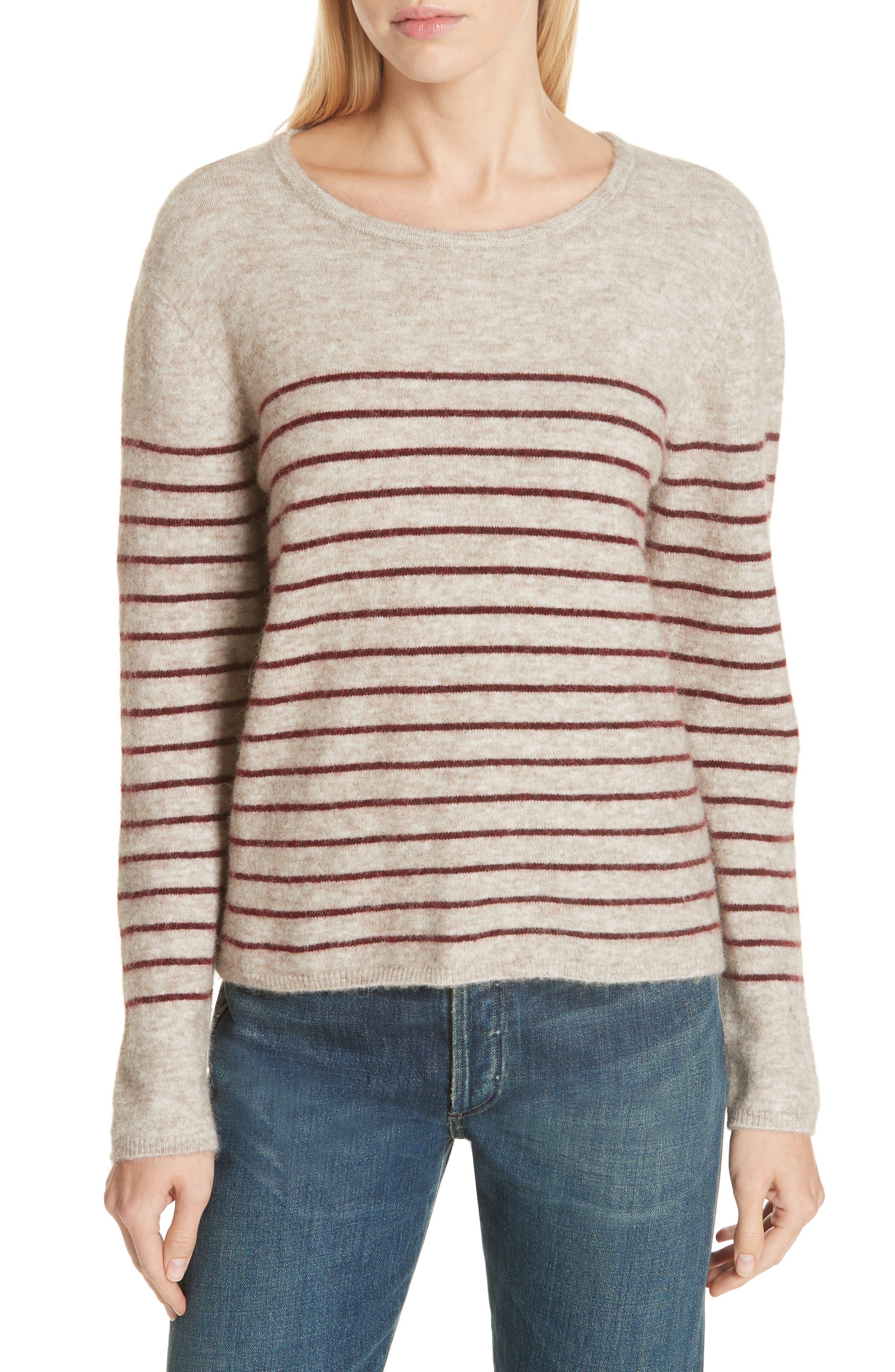 Artaud Stripe Sweater,                             Main thumbnail 1, color,                             BEIGE