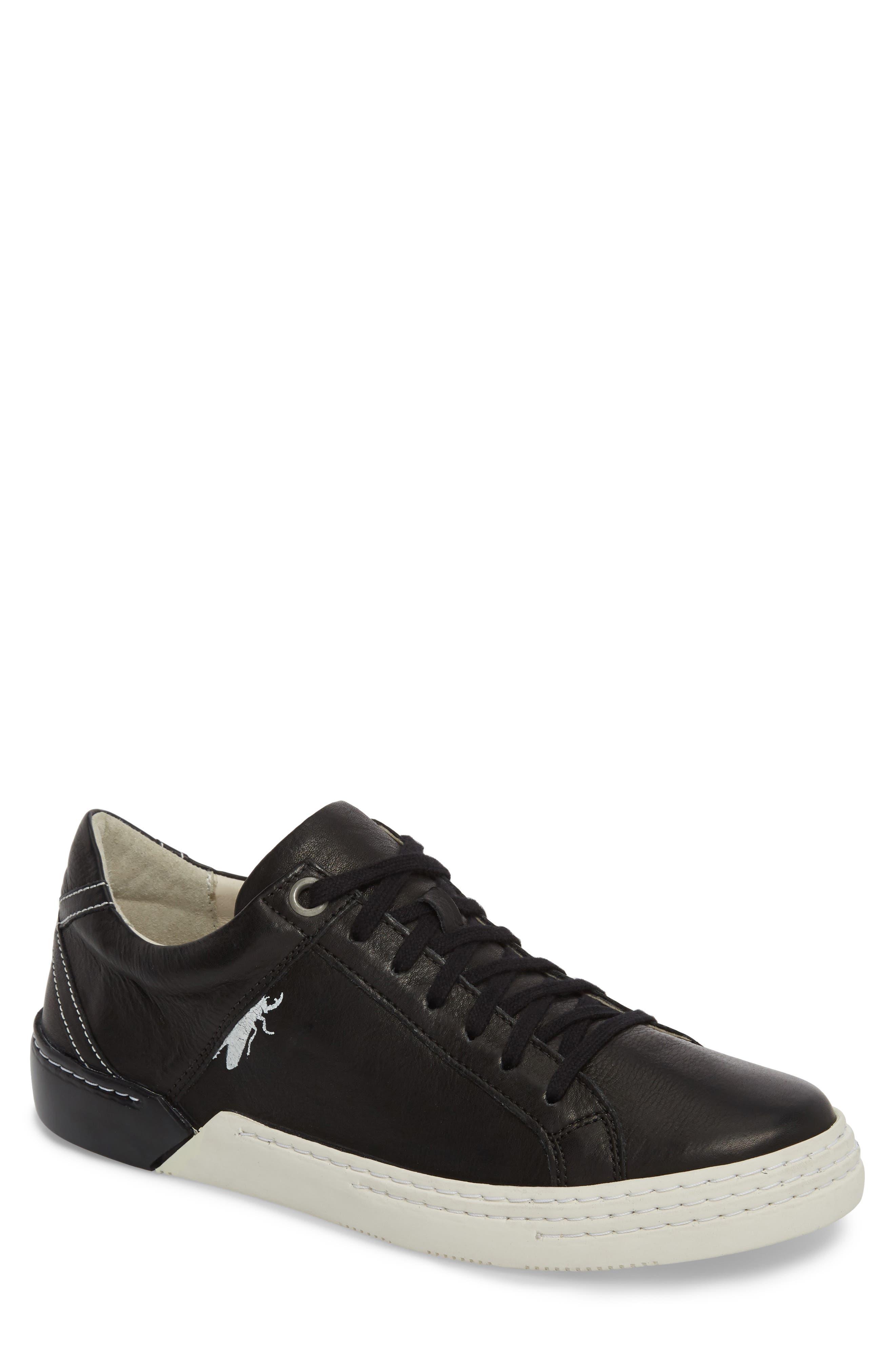 Sene Low Top Sneaker,                         Main,                         color, BLACK LEATHER