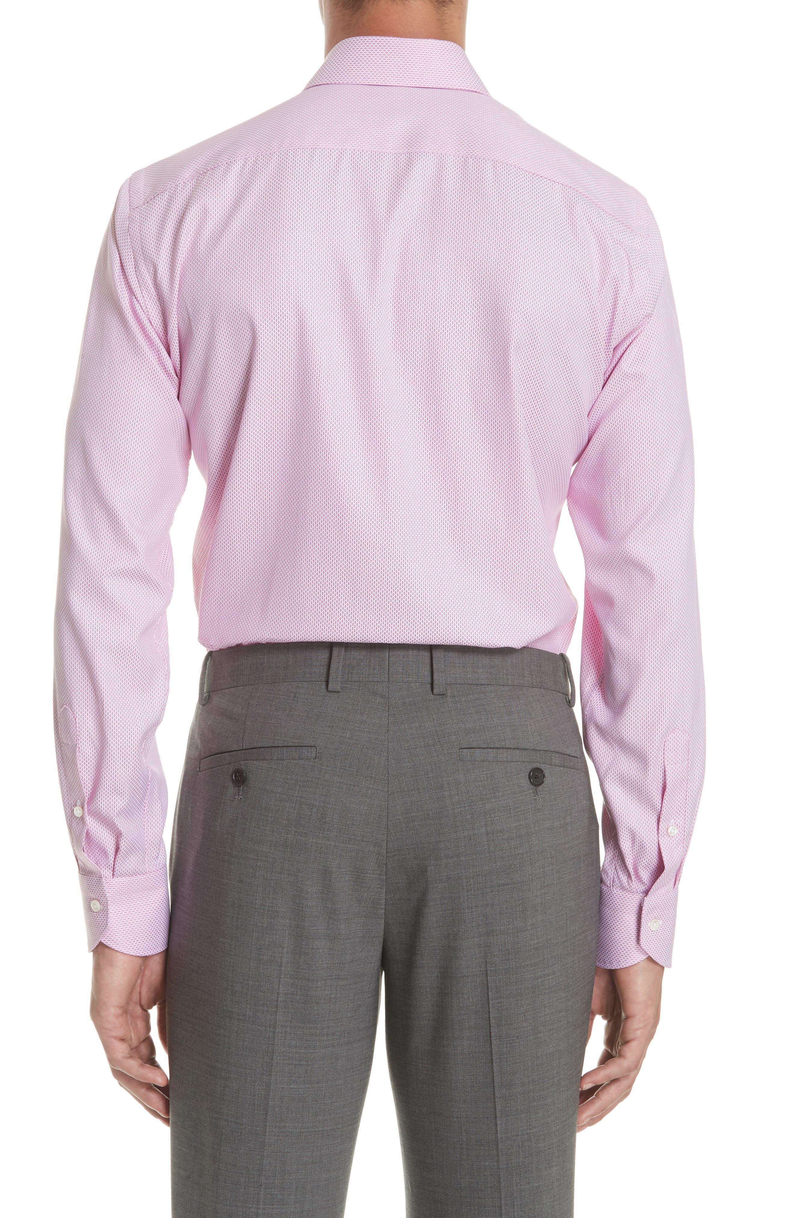 Regular Fit Geometric Print Dress Shirt,                             Alternate thumbnail 3, color,