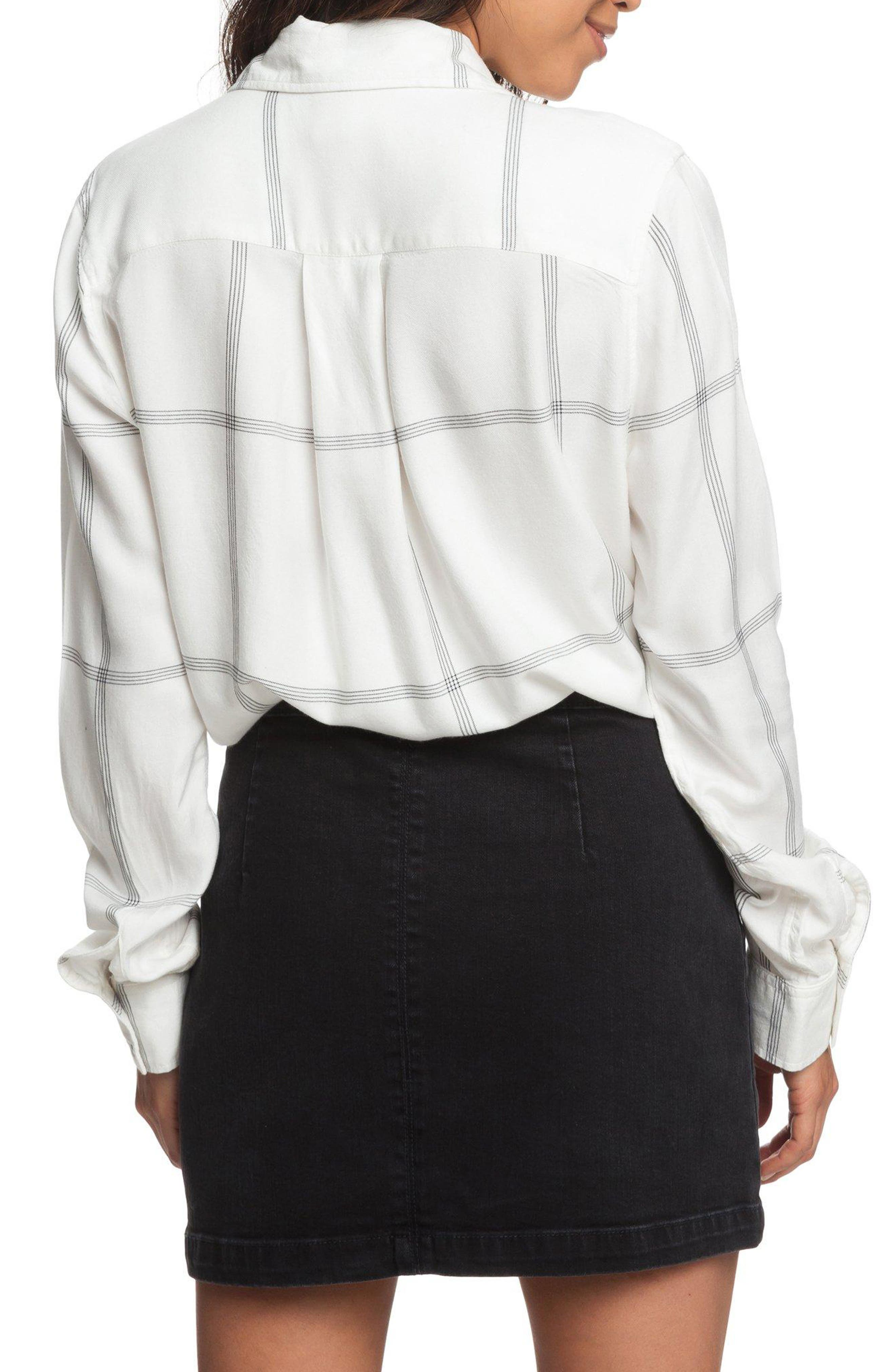 ROXY,                             Suburb Vibes Tie Waist Top,                             Alternate thumbnail 2, color,                             100