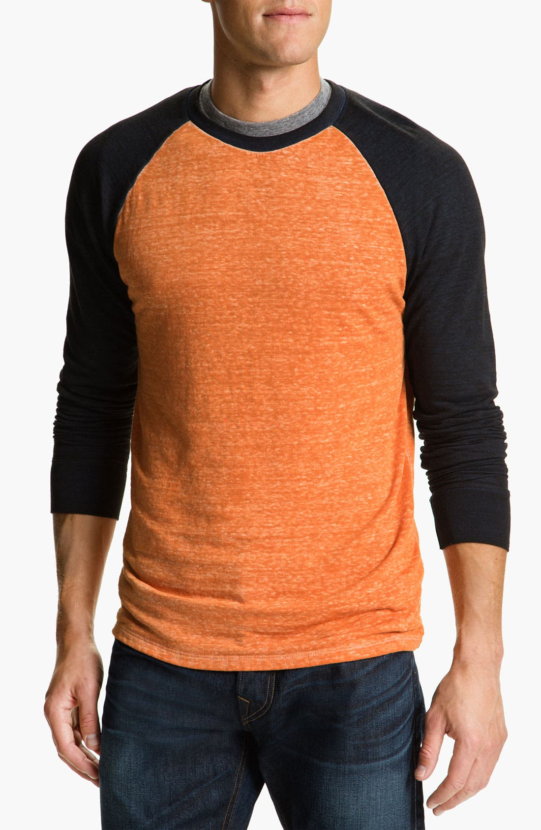 Washed Raglan Sleeve Sweatshirt,                             Main thumbnail 7, color,
