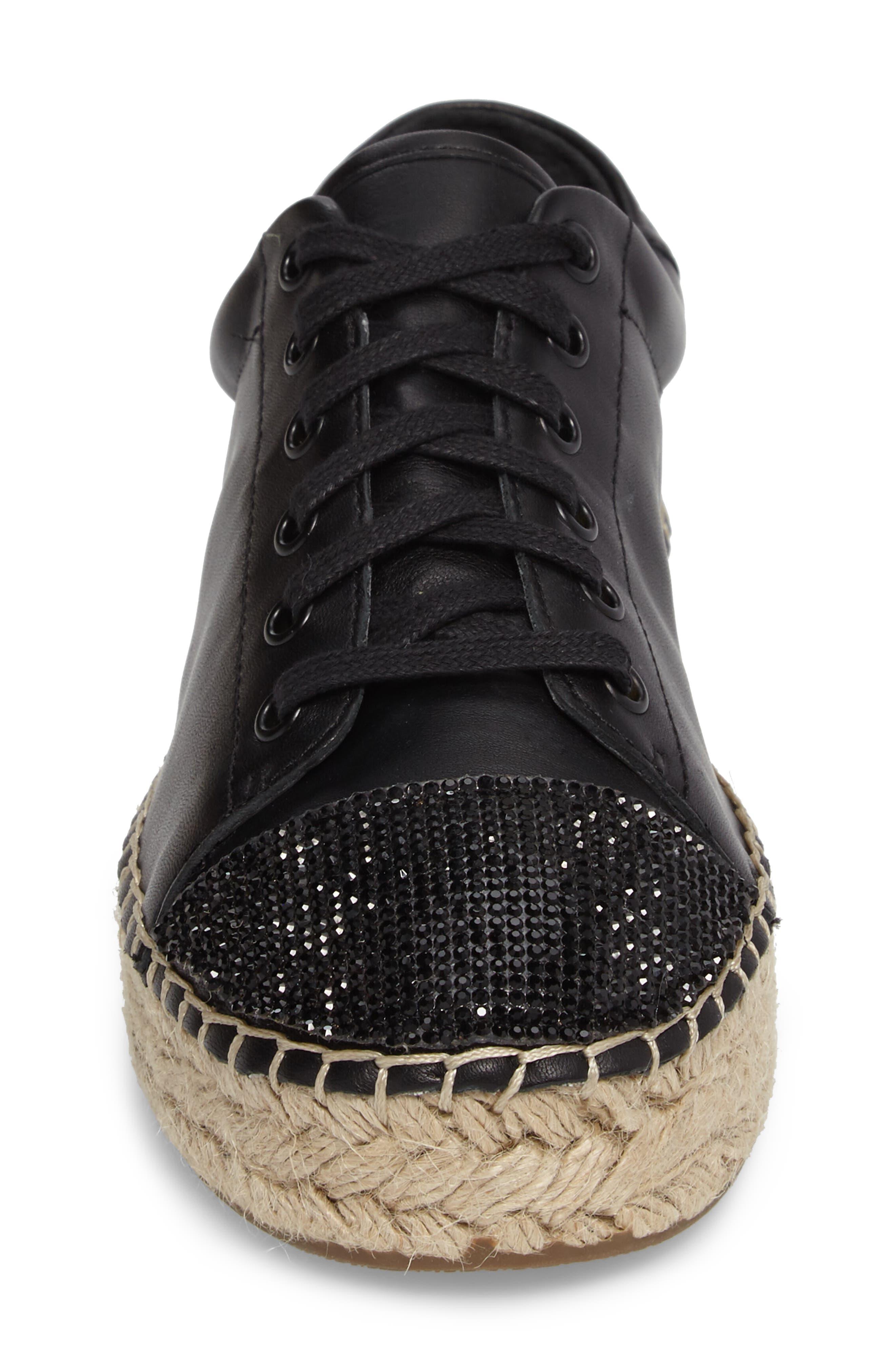 Joslyn Espadrille Sneaker,                             Alternate thumbnail 4, color,                             001