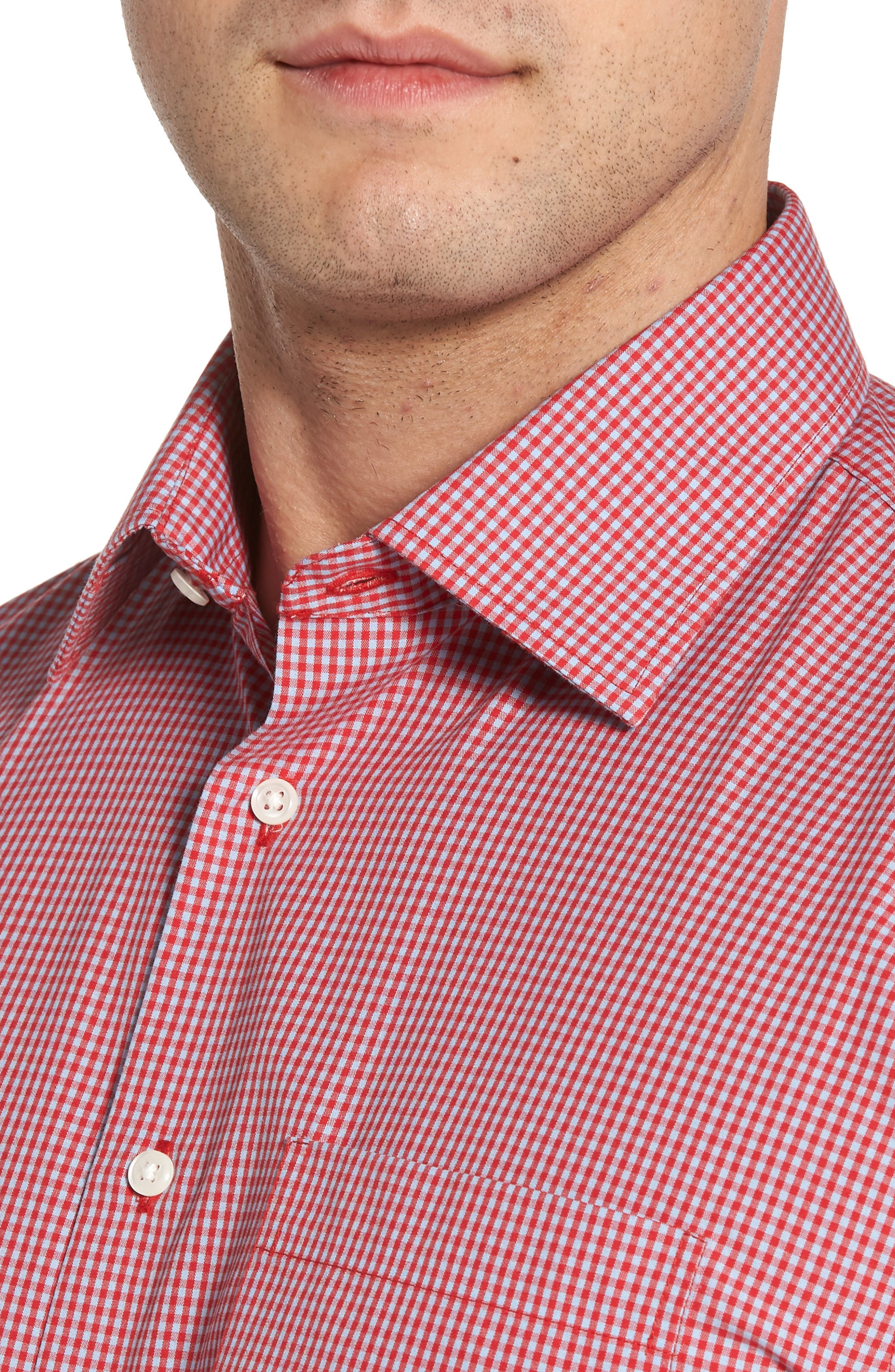 Smartcare<sup>™</sup> Traditional Fit Check Dress Shirt,                             Alternate thumbnail 8, color,