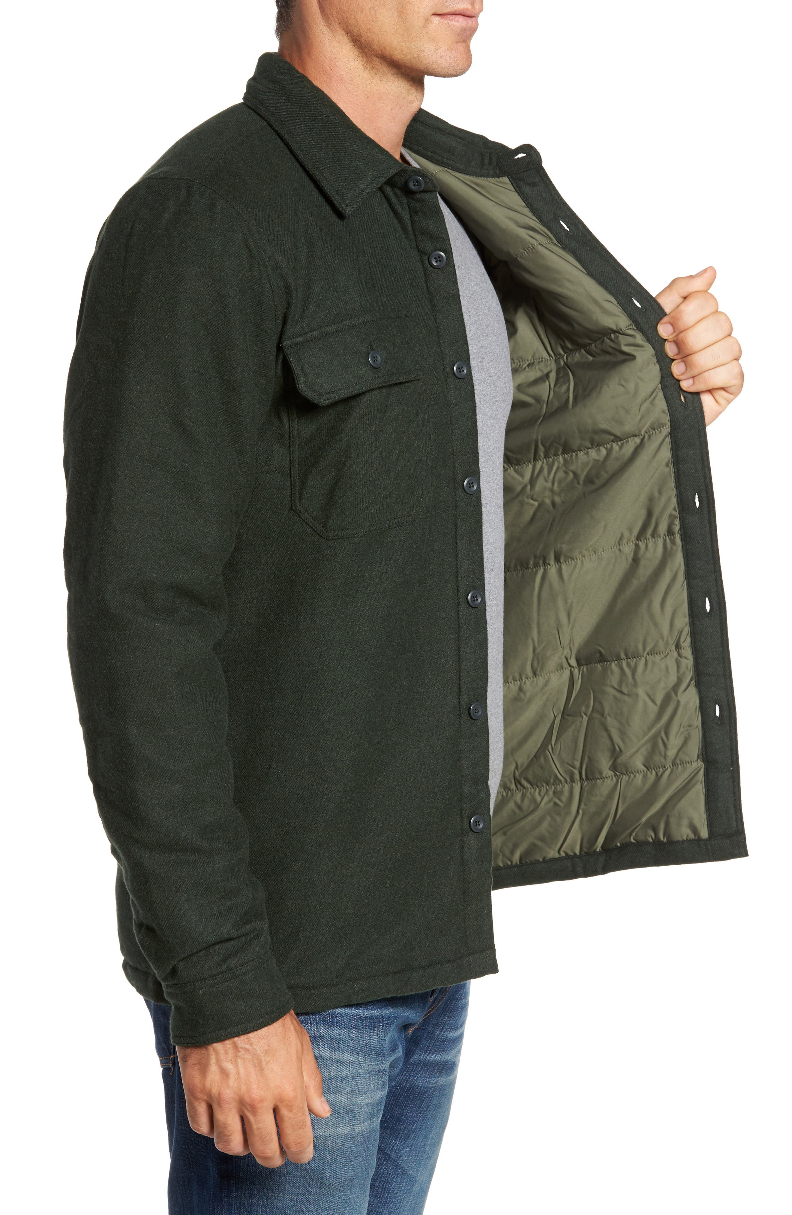 'Fjord' Flannel Shirt Jacket,                             Alternate thumbnail 3, color,                             002