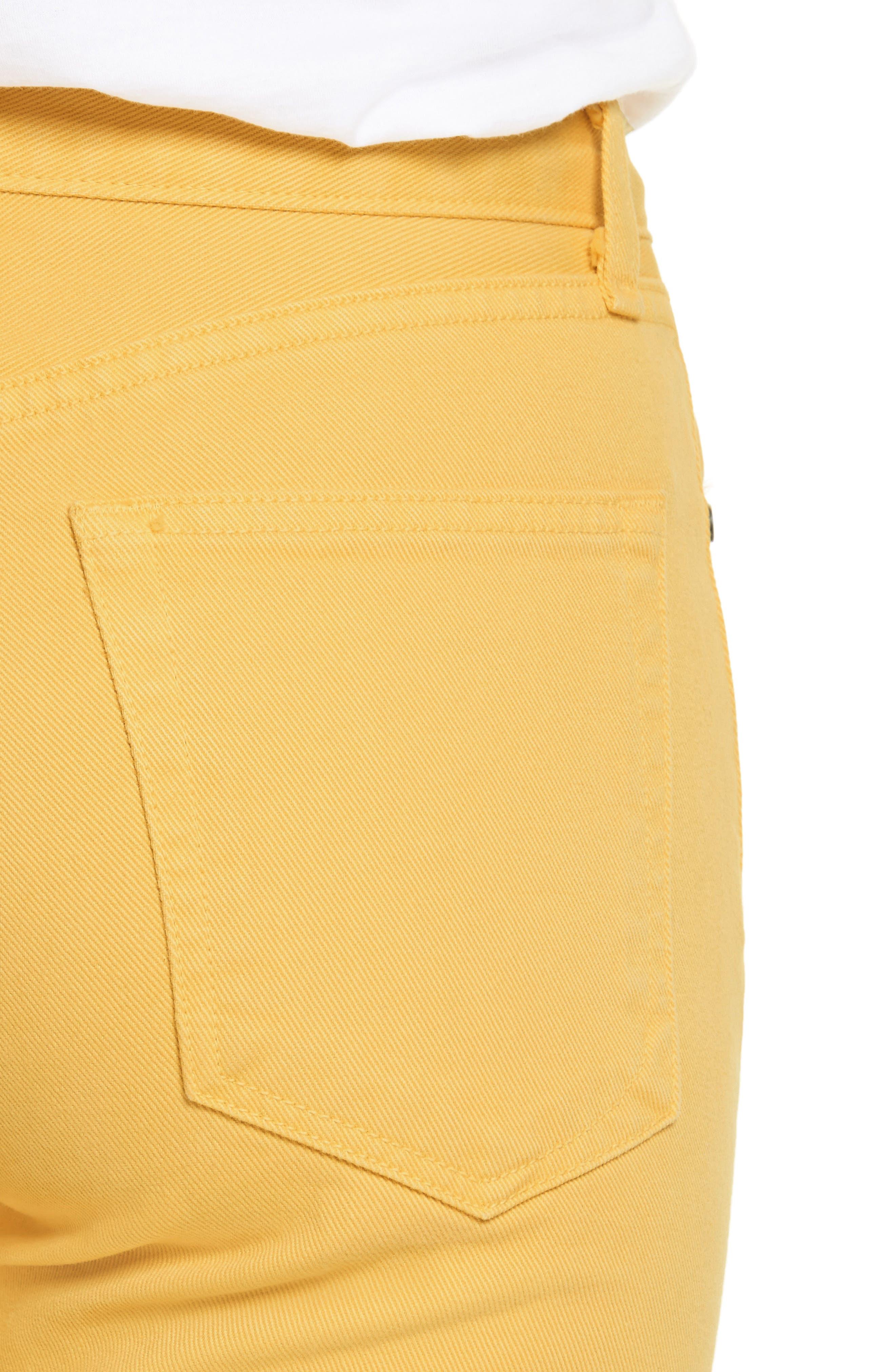 Straight Leg Crop Jeans,                             Alternate thumbnail 4, color,                             730