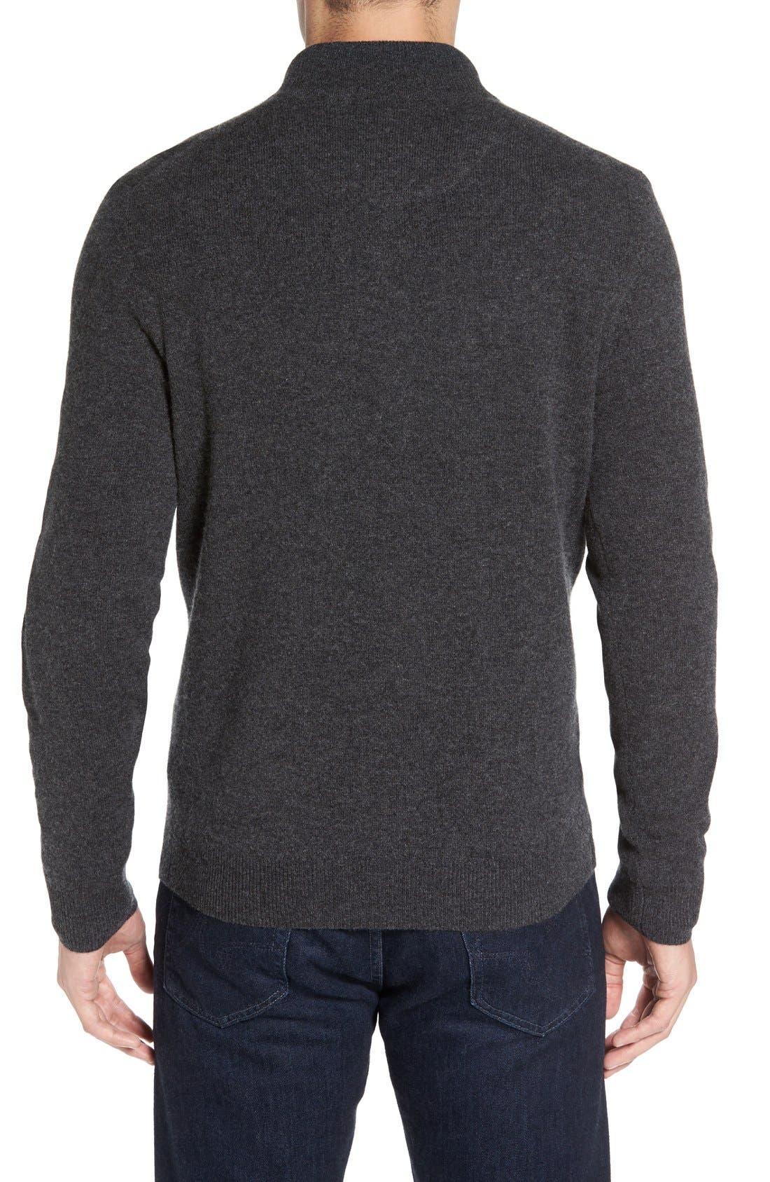 Cashmere Quarter Zip Sweater,                             Alternate thumbnail 26, color,