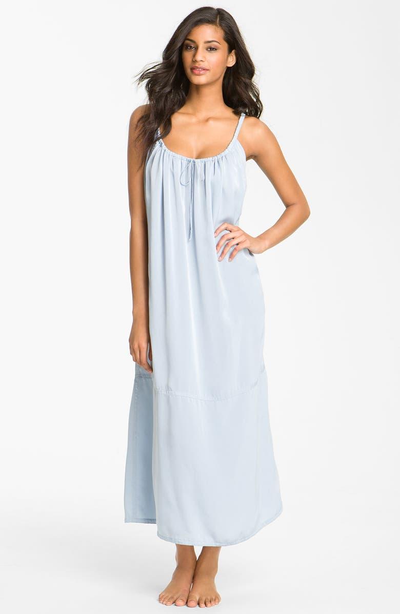 DONNA KARAN NEW YORK Donna Karan Sleepwear Gathered Matte Satin Nightgown cab83a707