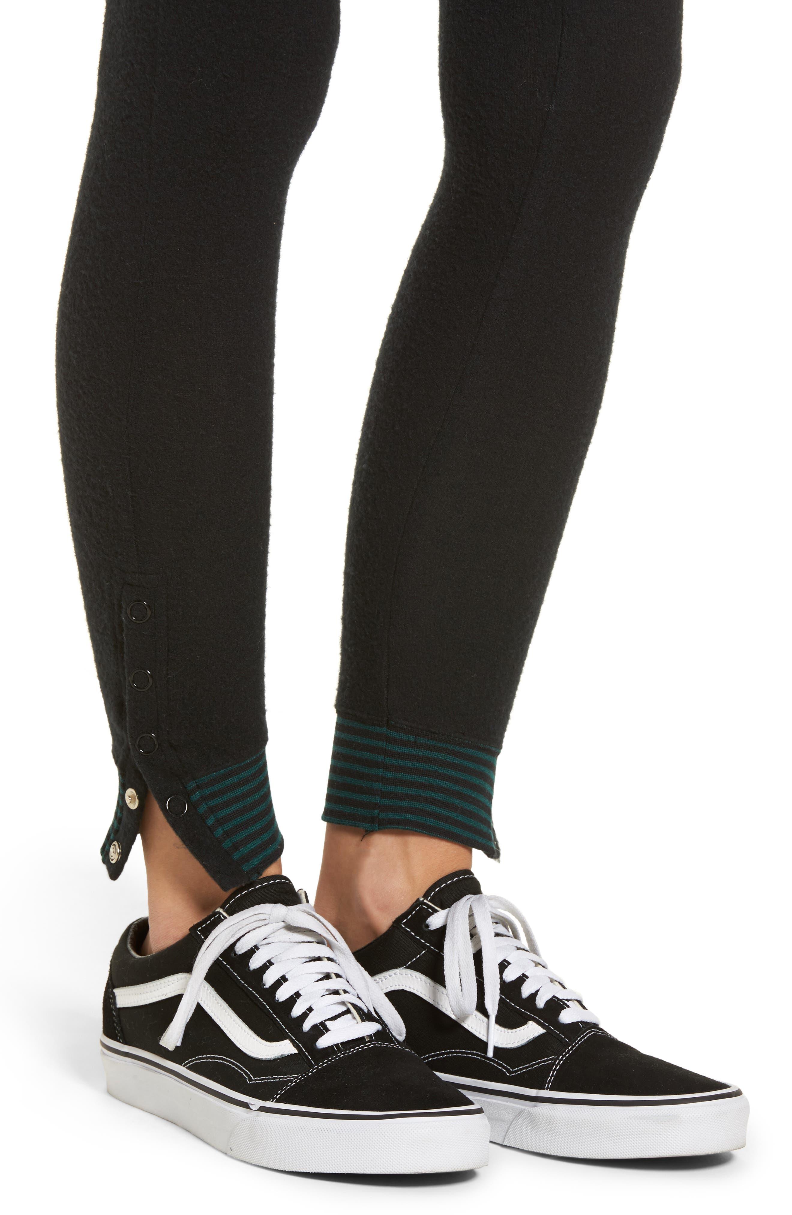 'Laid Back' Ankle Snap Leggings,                             Alternate thumbnail 4, color,                             002