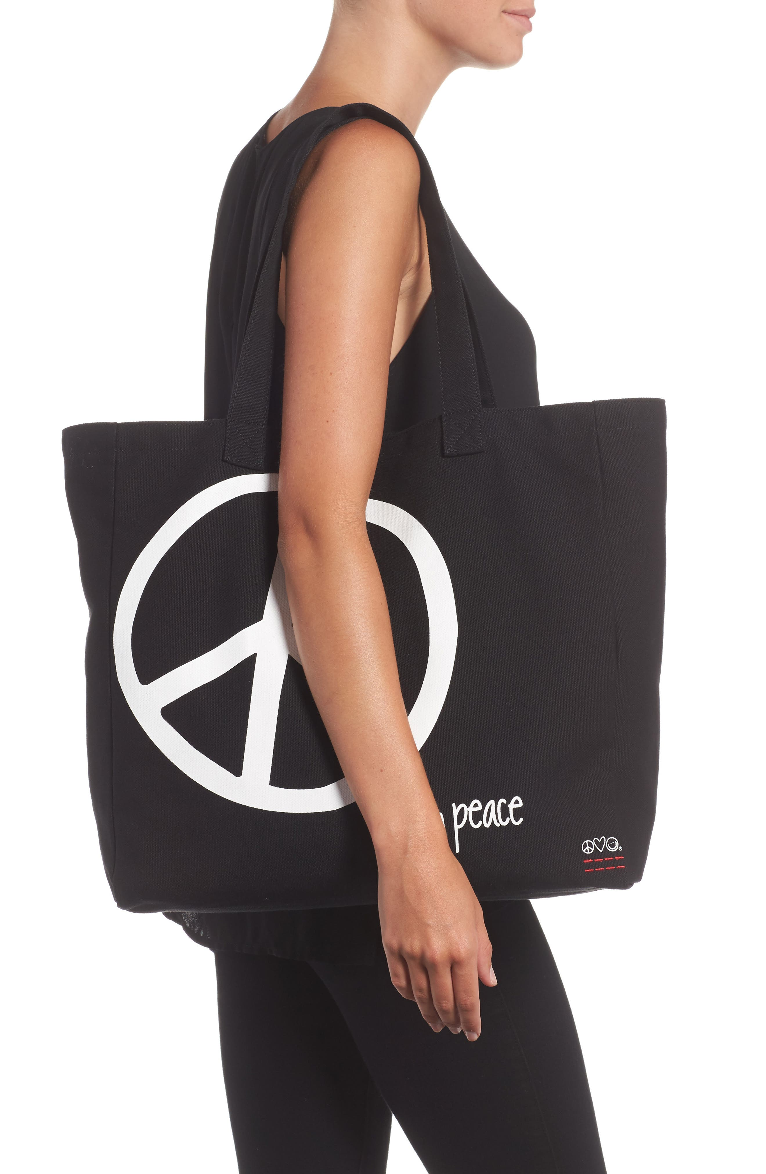 Oversized Canvas Tote,                             Alternate thumbnail 6, color,