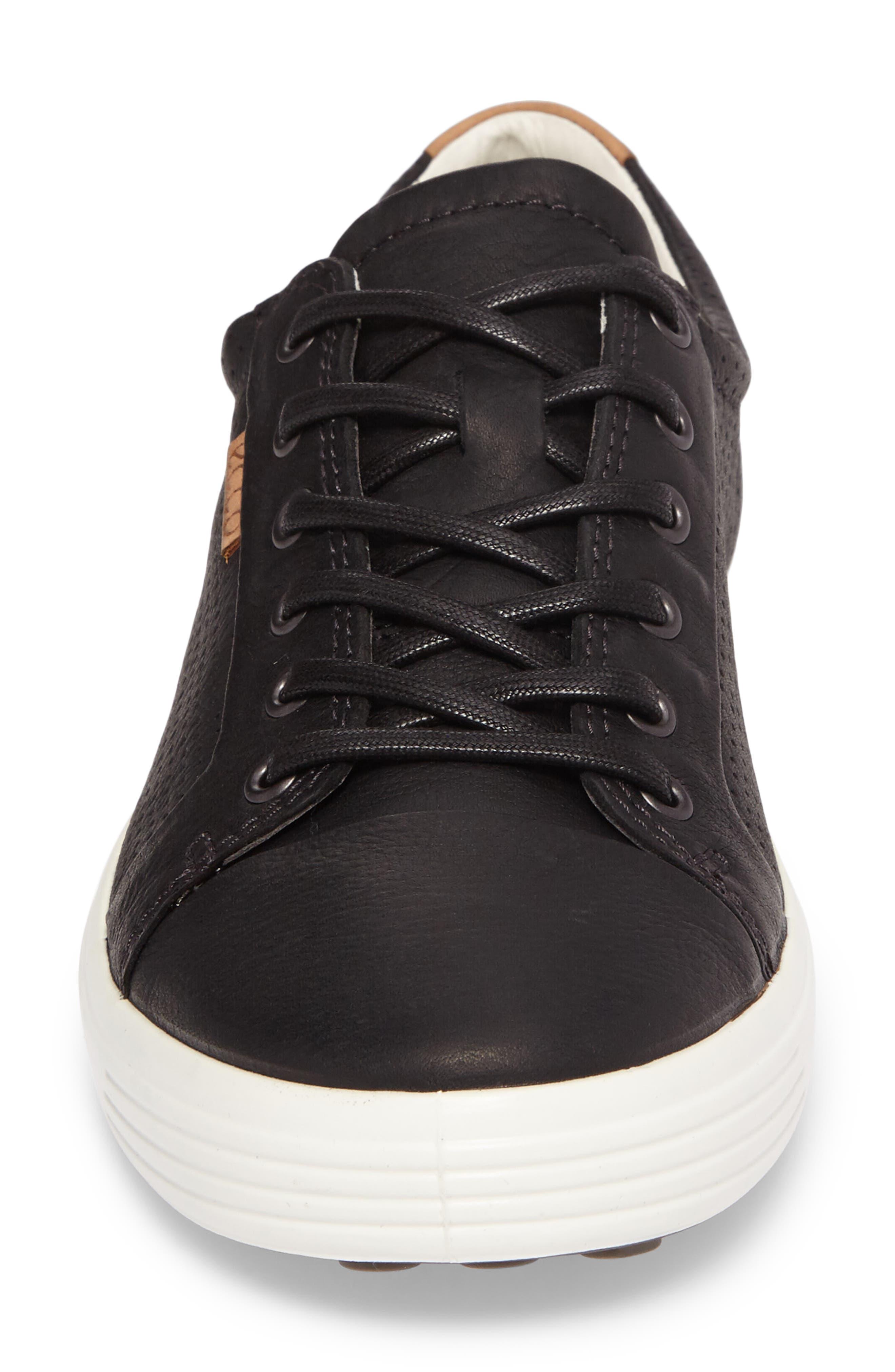 'Soft 7' Sneaker,                             Alternate thumbnail 4, color,                             BLACK LEATHER