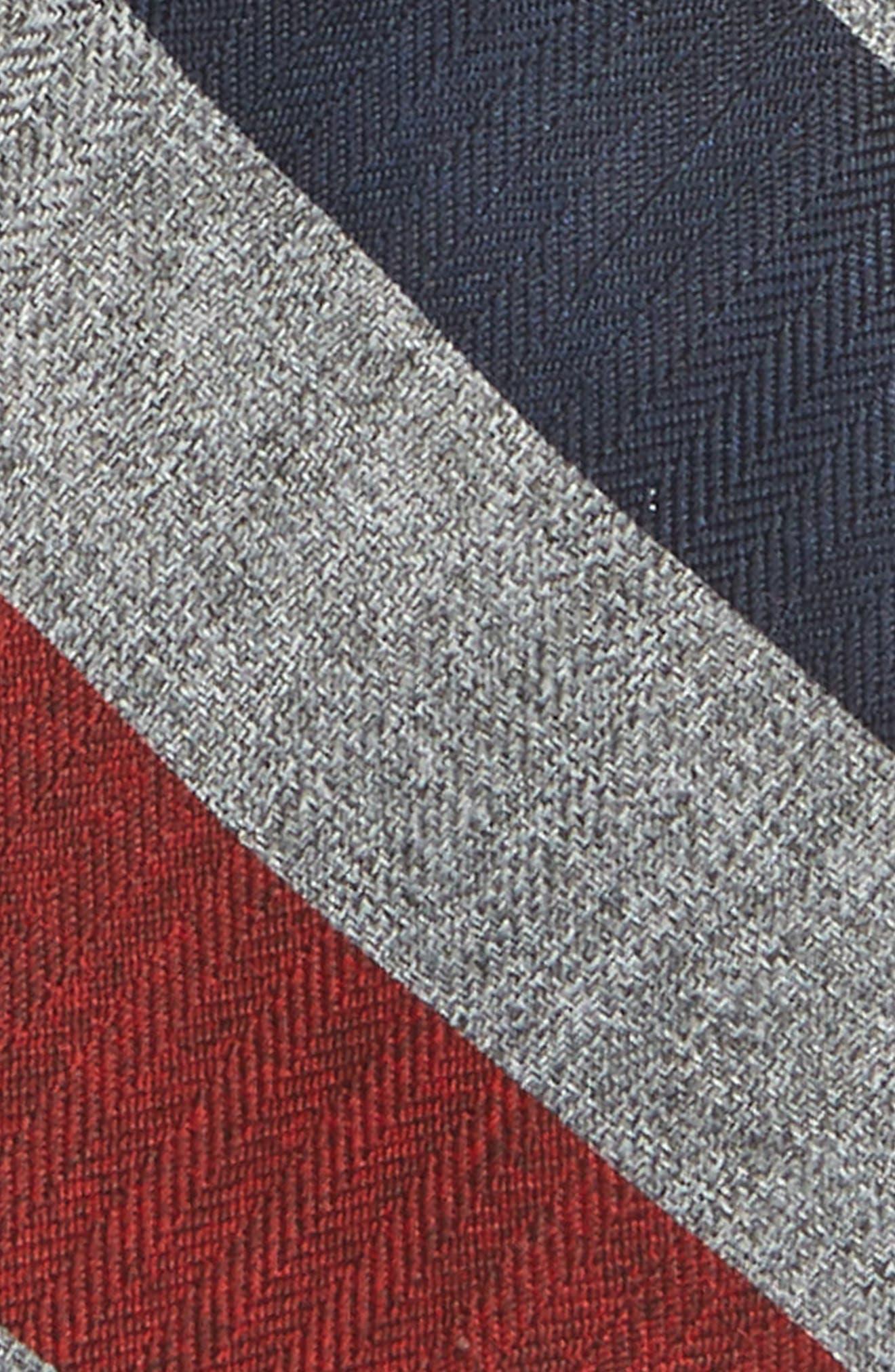 Stripe Tie,                             Alternate thumbnail 2, color,                             RED