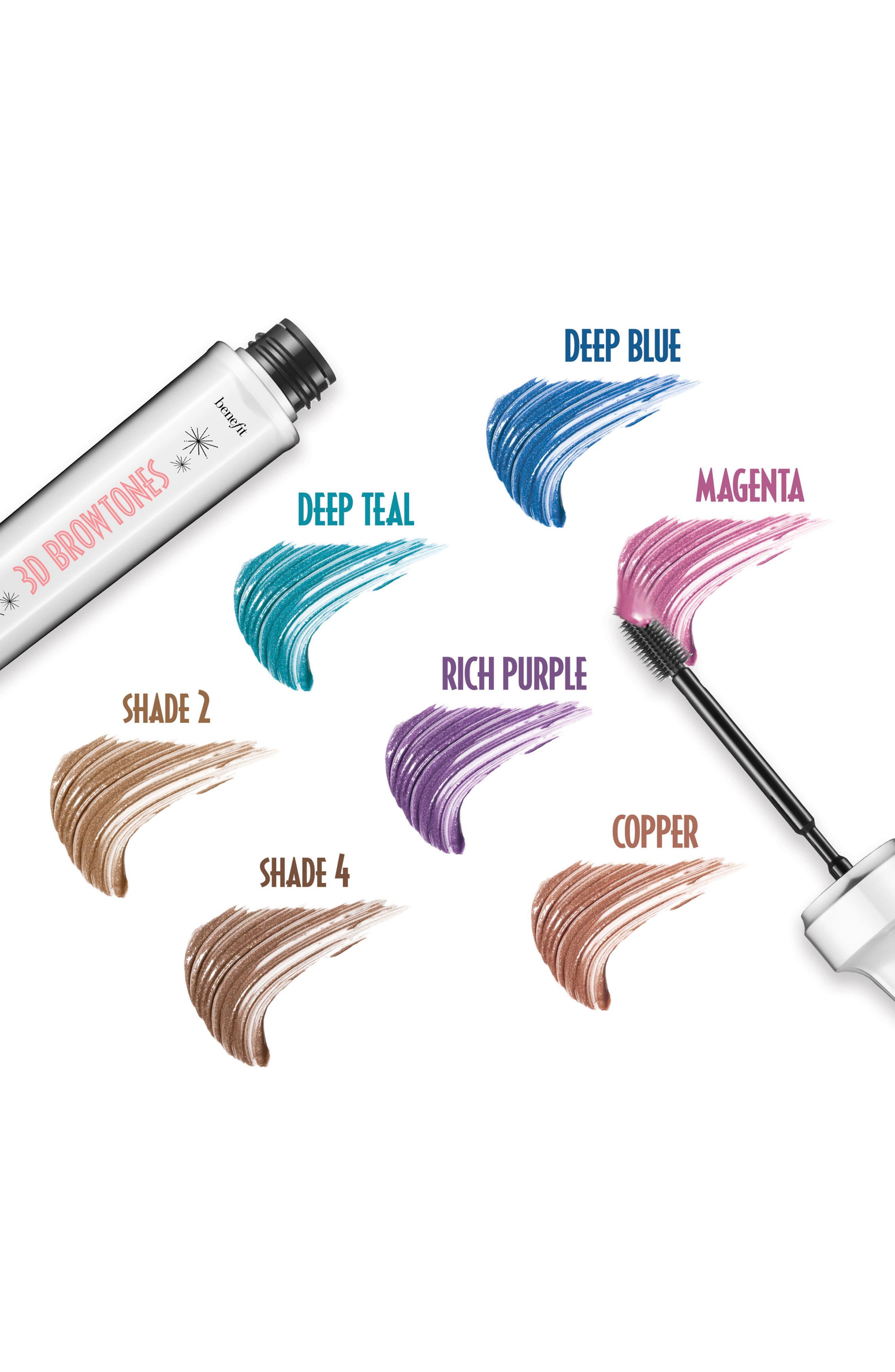 Benefit 3D BROWtones Instant Color Eyebrow Highlights,                             Alternate thumbnail 4, color,                             02 LIGHT MEDIUM