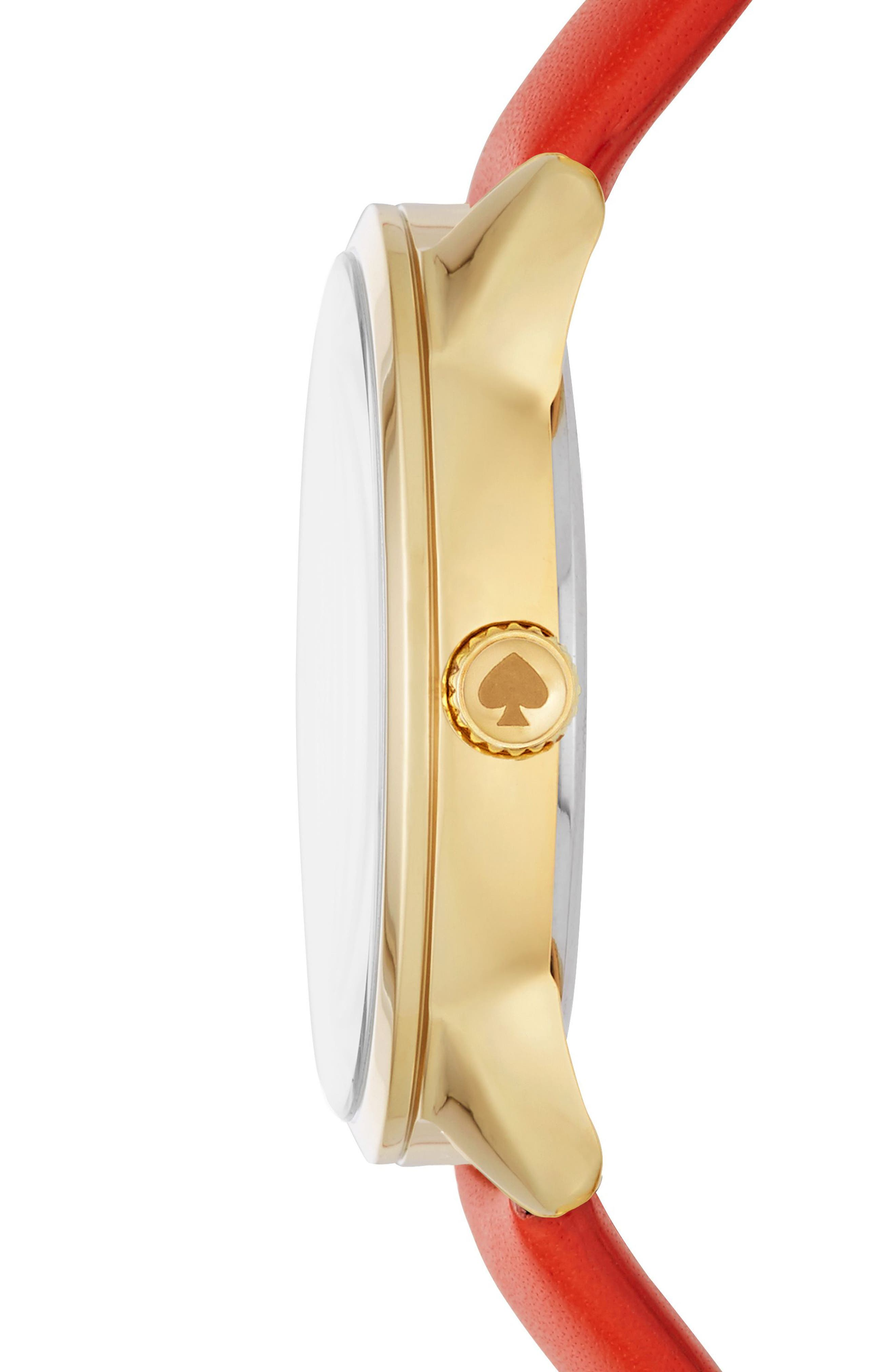 KATE SPADE NEW YORK,                             kate spade cactus crosstown leather strap watch, 34mm,                             Alternate thumbnail 2, color,                             600