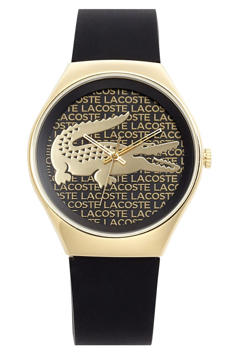 Lacoste  Valencia  Logo Dial Leather Strap Watch bc8c92737b