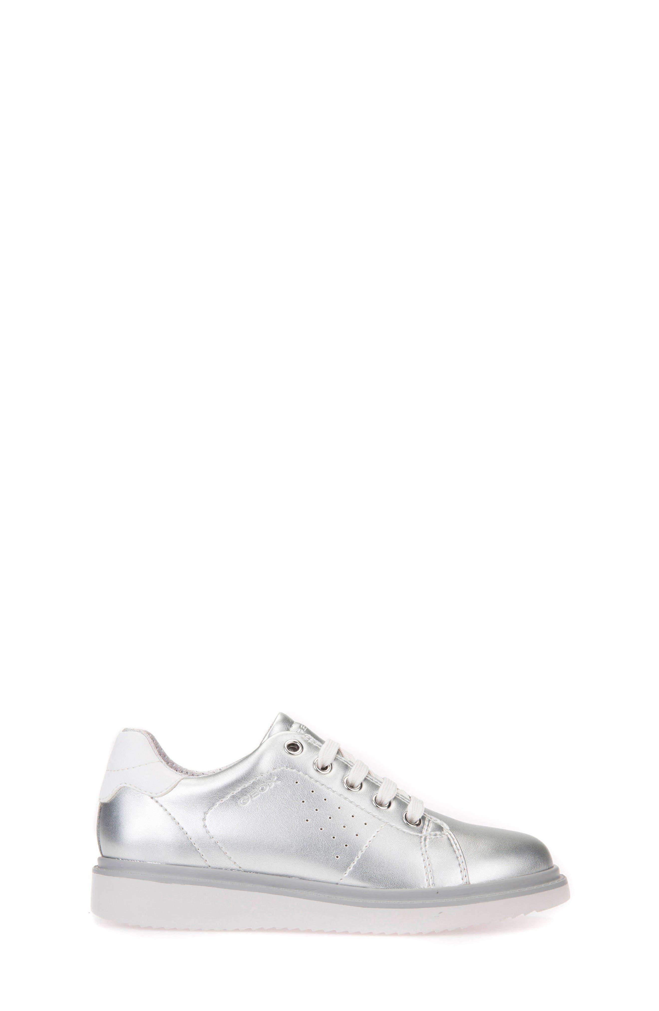 Thymar Low Top Sneaker,                             Alternate thumbnail 3, color,                             SILVER