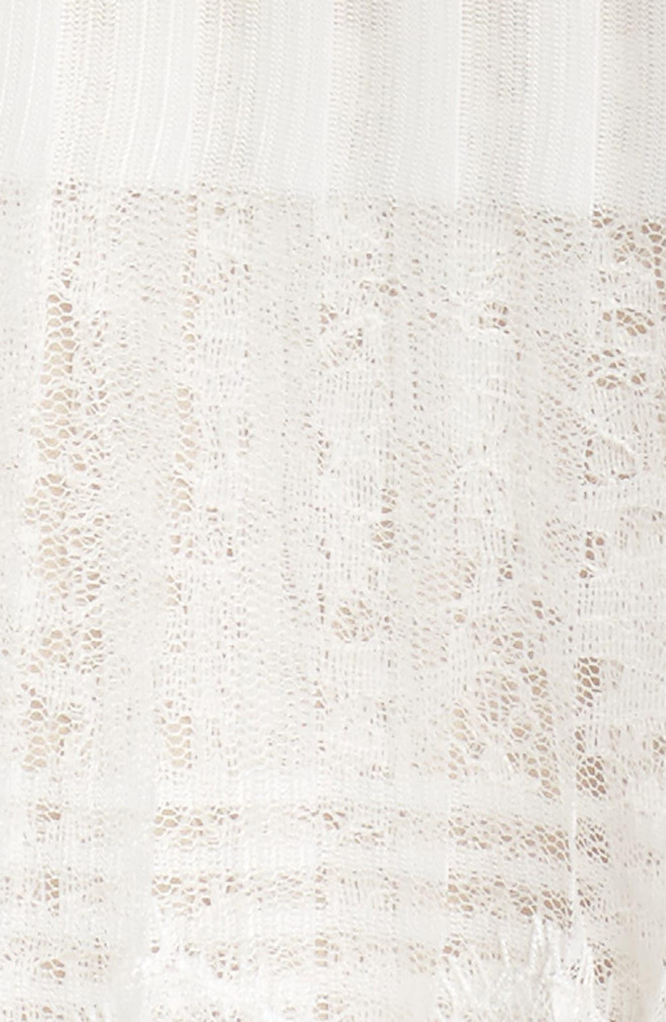 Nixie Tea Length Lace Dress,                             Alternate thumbnail 5, color,                             113