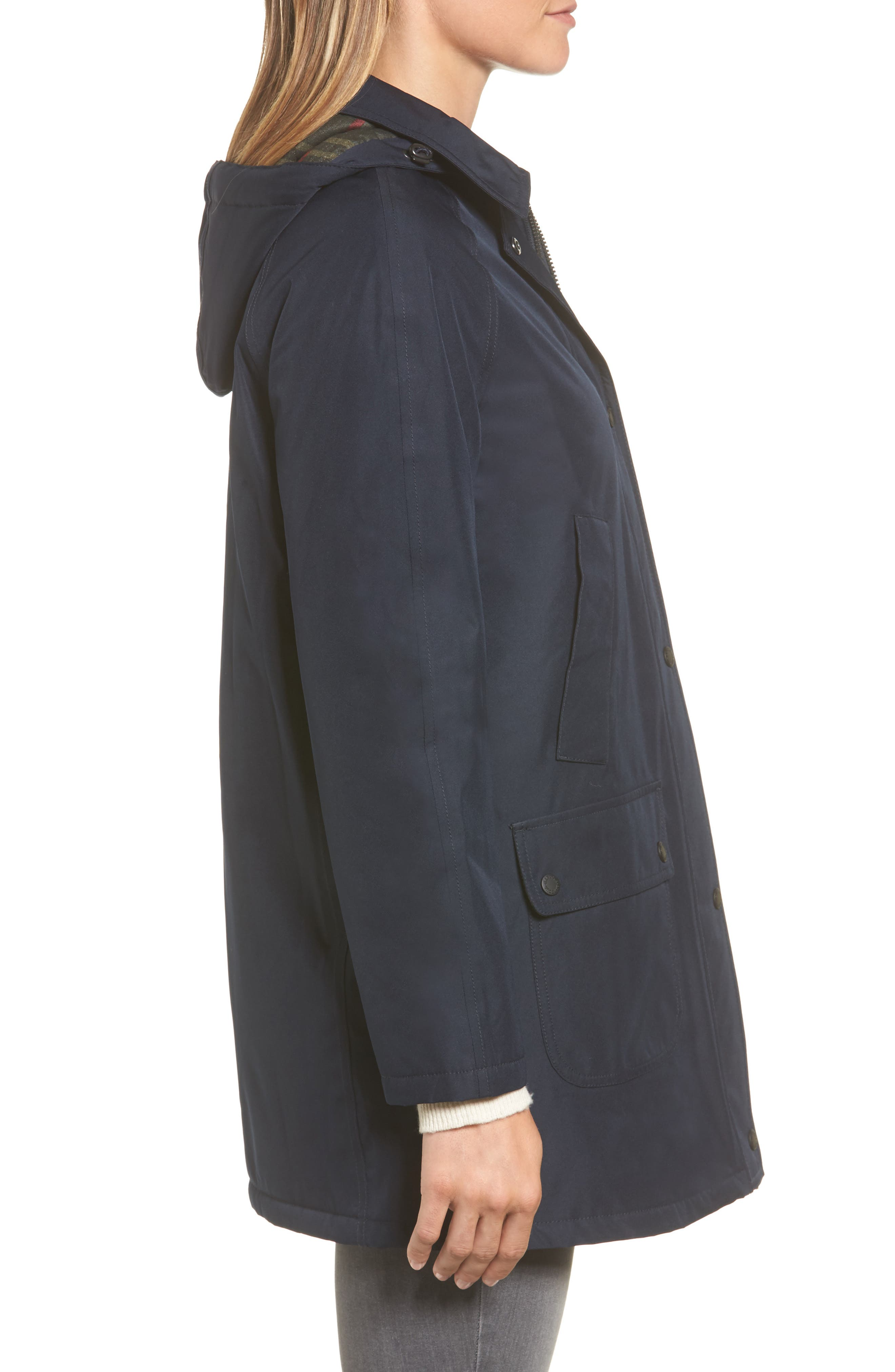 Whirl Waterproof Hooded Jacket,                             Alternate thumbnail 3, color,                             410