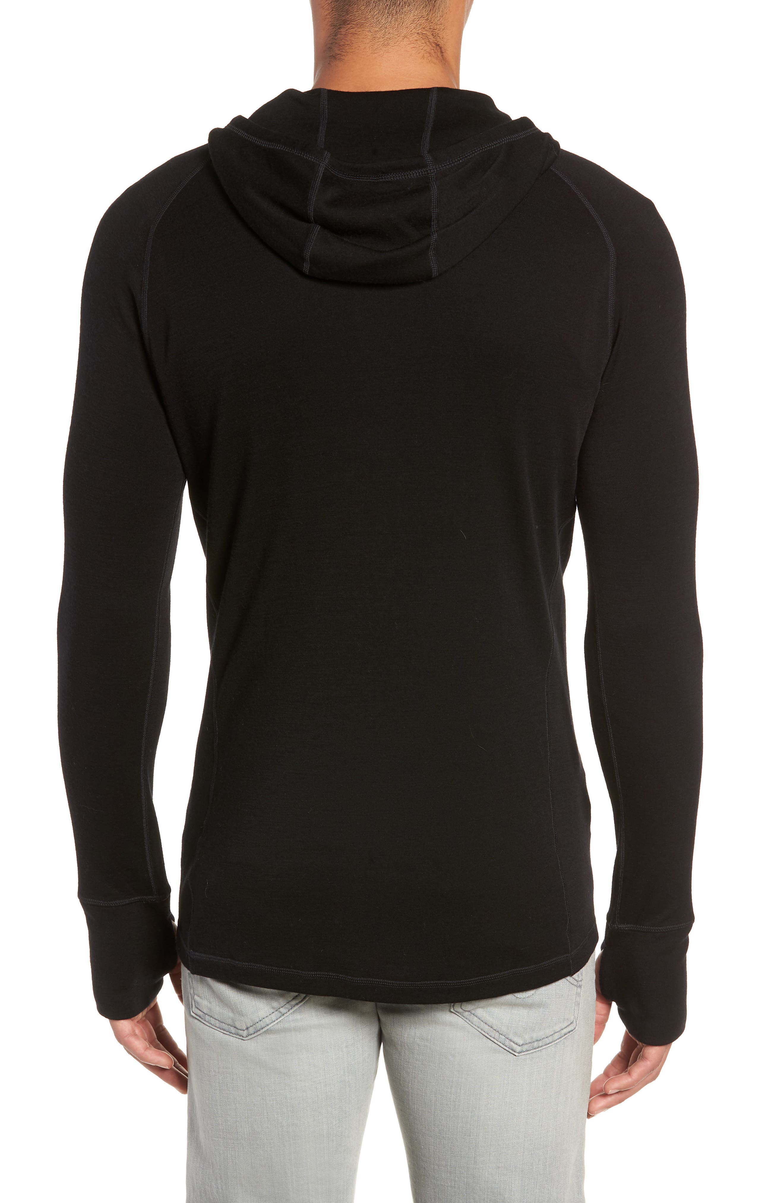 Merino 250 Base Layer Hooded Pullover,                             Alternate thumbnail 2, color,                             001