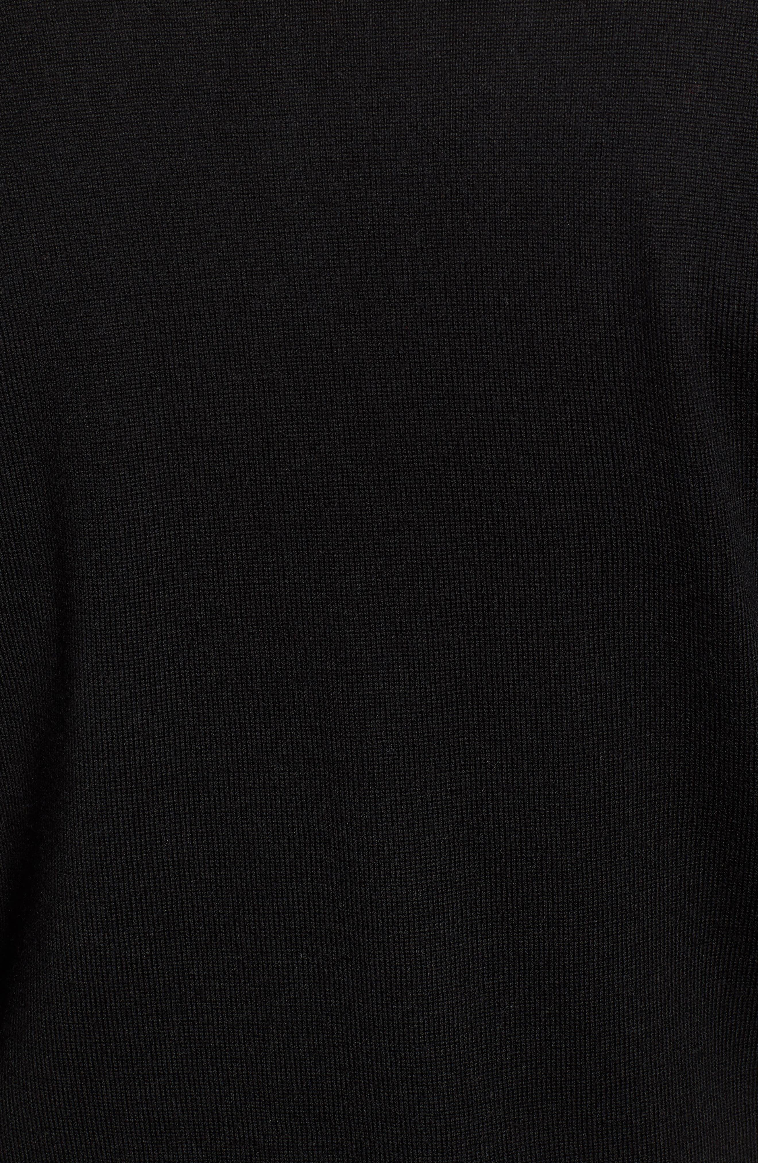 Crown Soft Wool Blend Quarter Zip Sweater,                             Alternate thumbnail 5, color,                             001