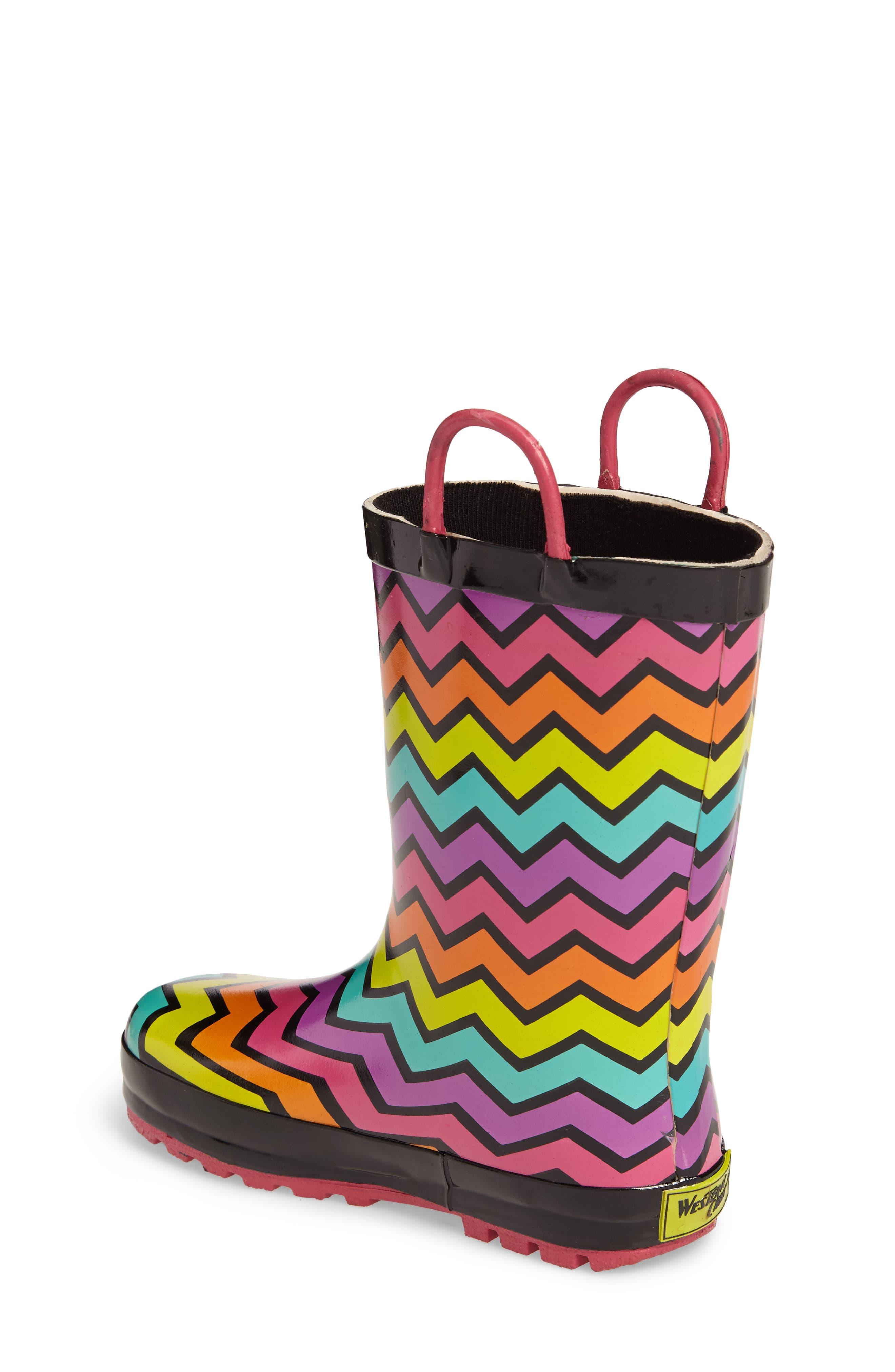 Funny Stripe Rain Boot,                             Alternate thumbnail 2, color,                             001