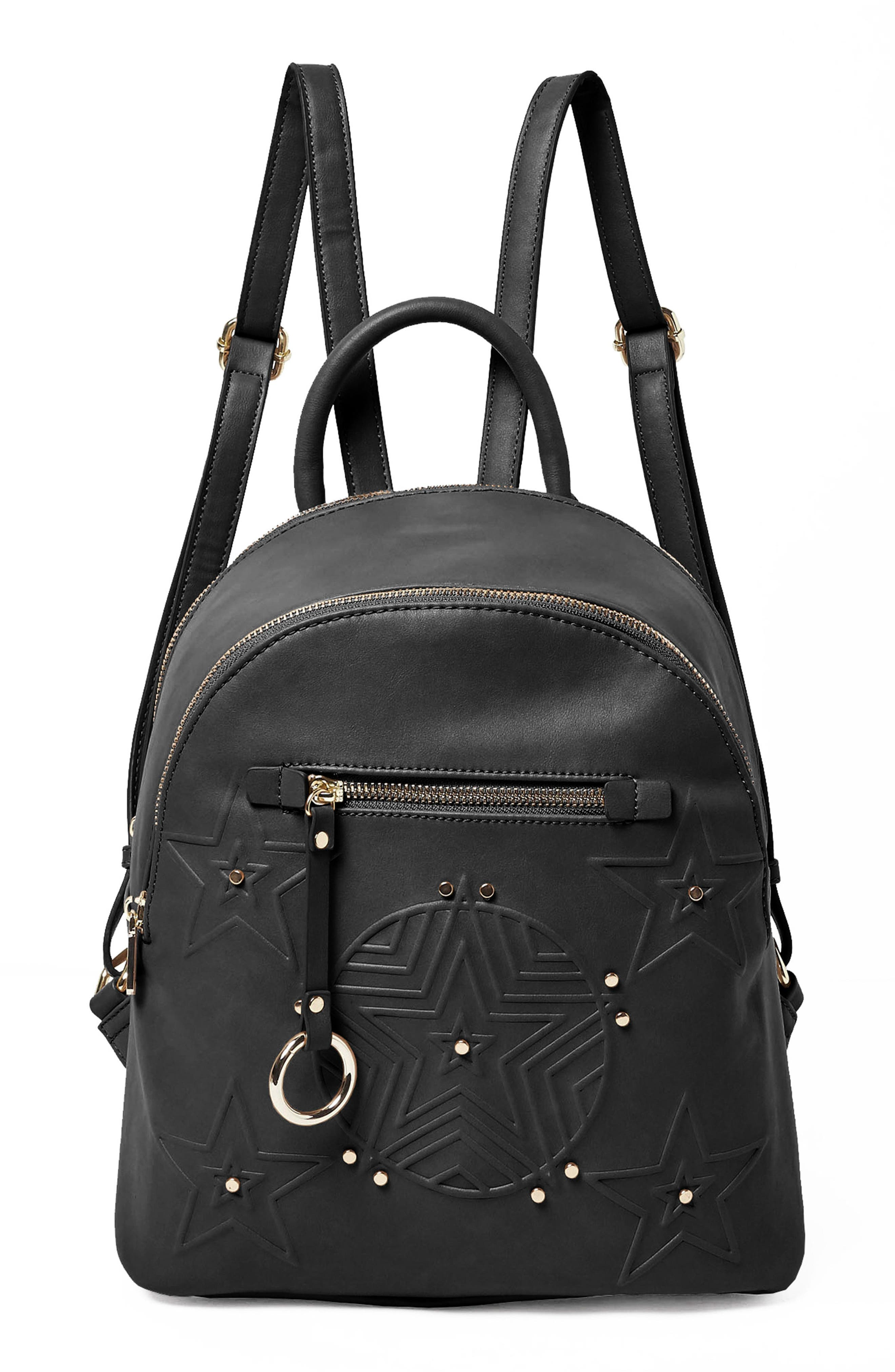 Celestial Vegan Leather Backpack,                         Main,                         color, 001