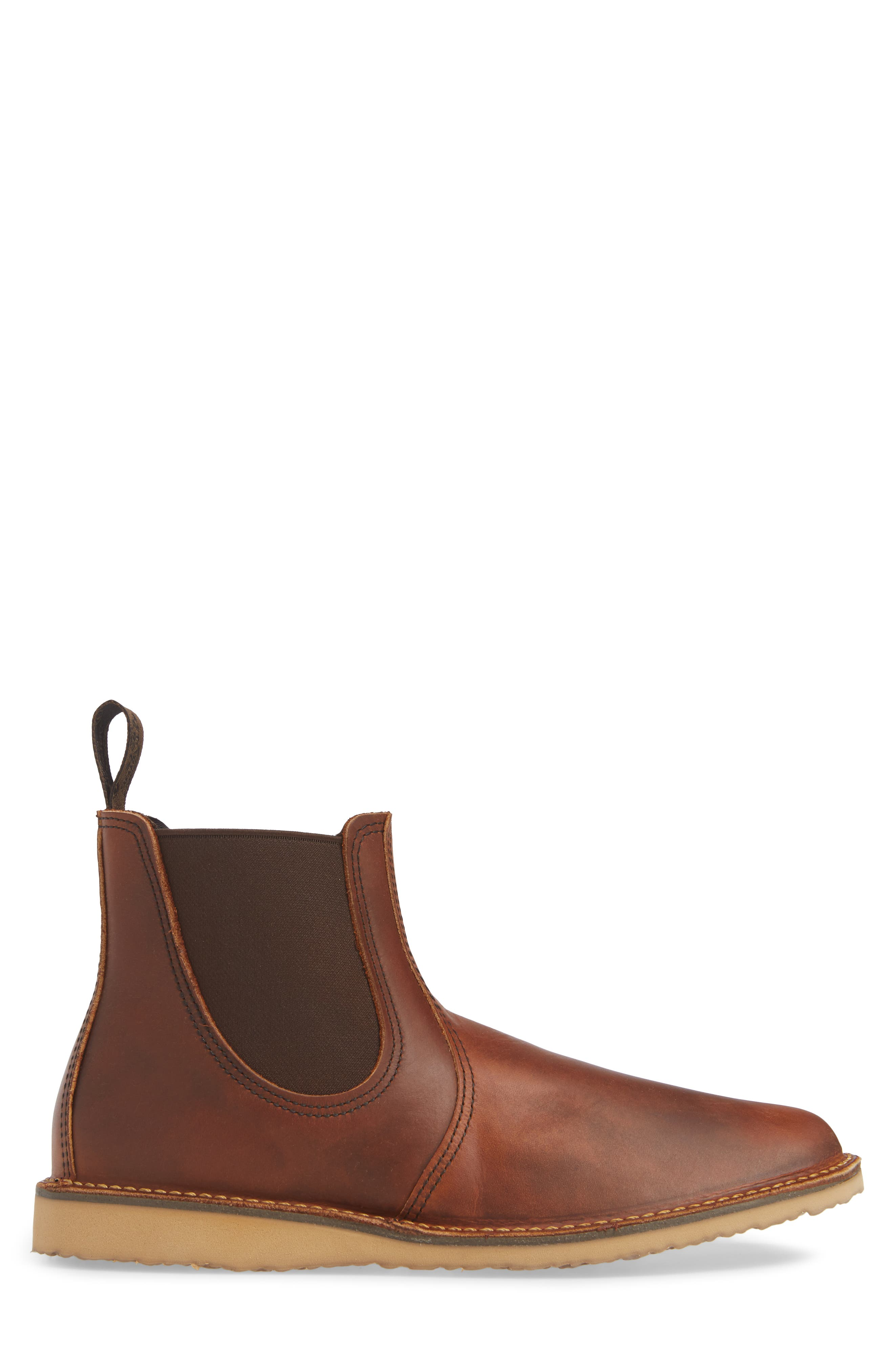 Chelsea Boot,                             Alternate thumbnail 3, color,                             COPPER LEATHER