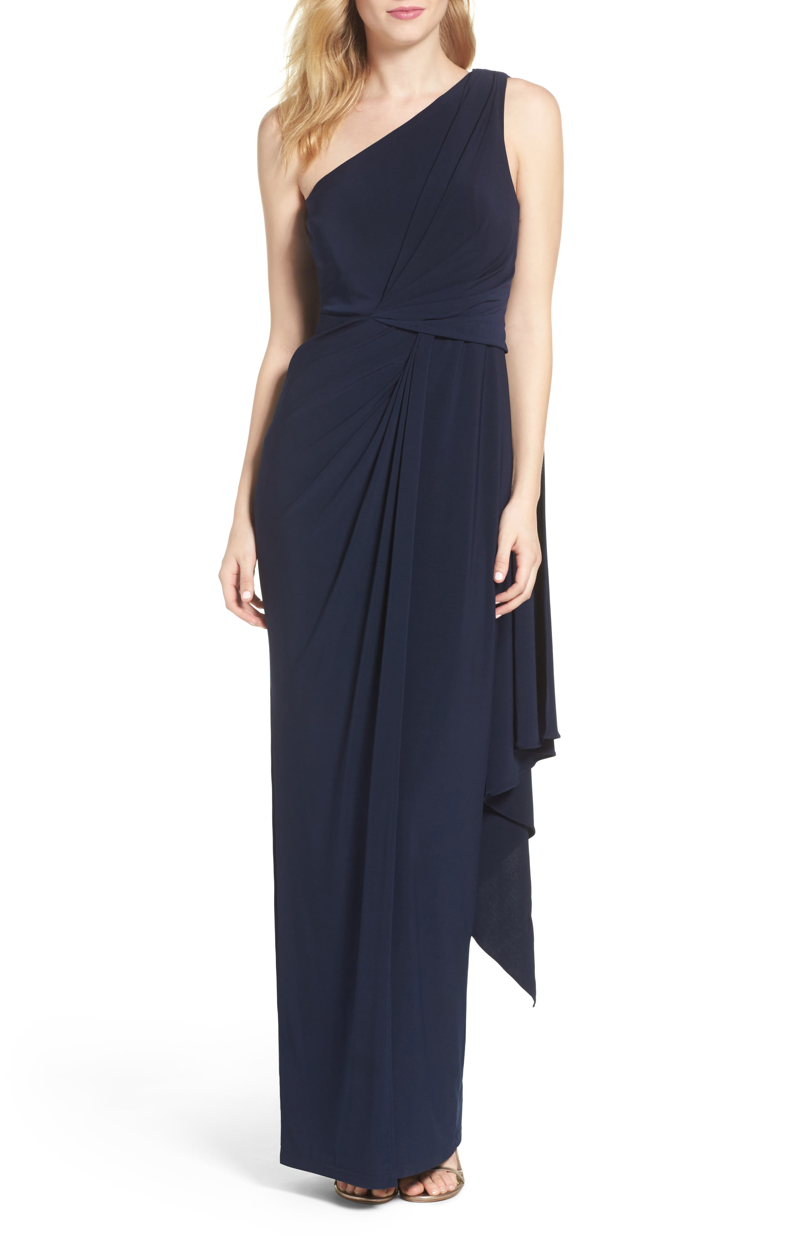 Jersey Column Gown,                         Main,                         color, 410