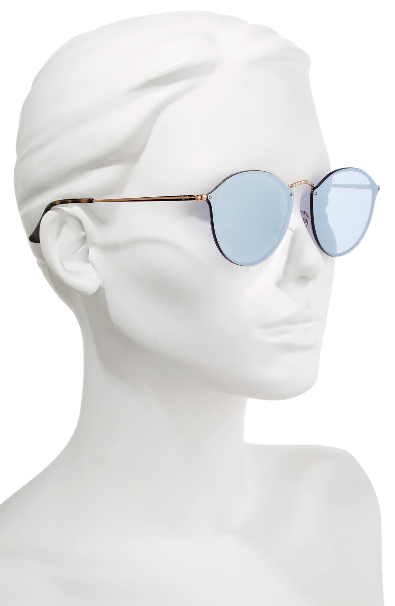 59mm Blaze Round Mirrored Sunglasses,                             Alternate thumbnail 6, color,
