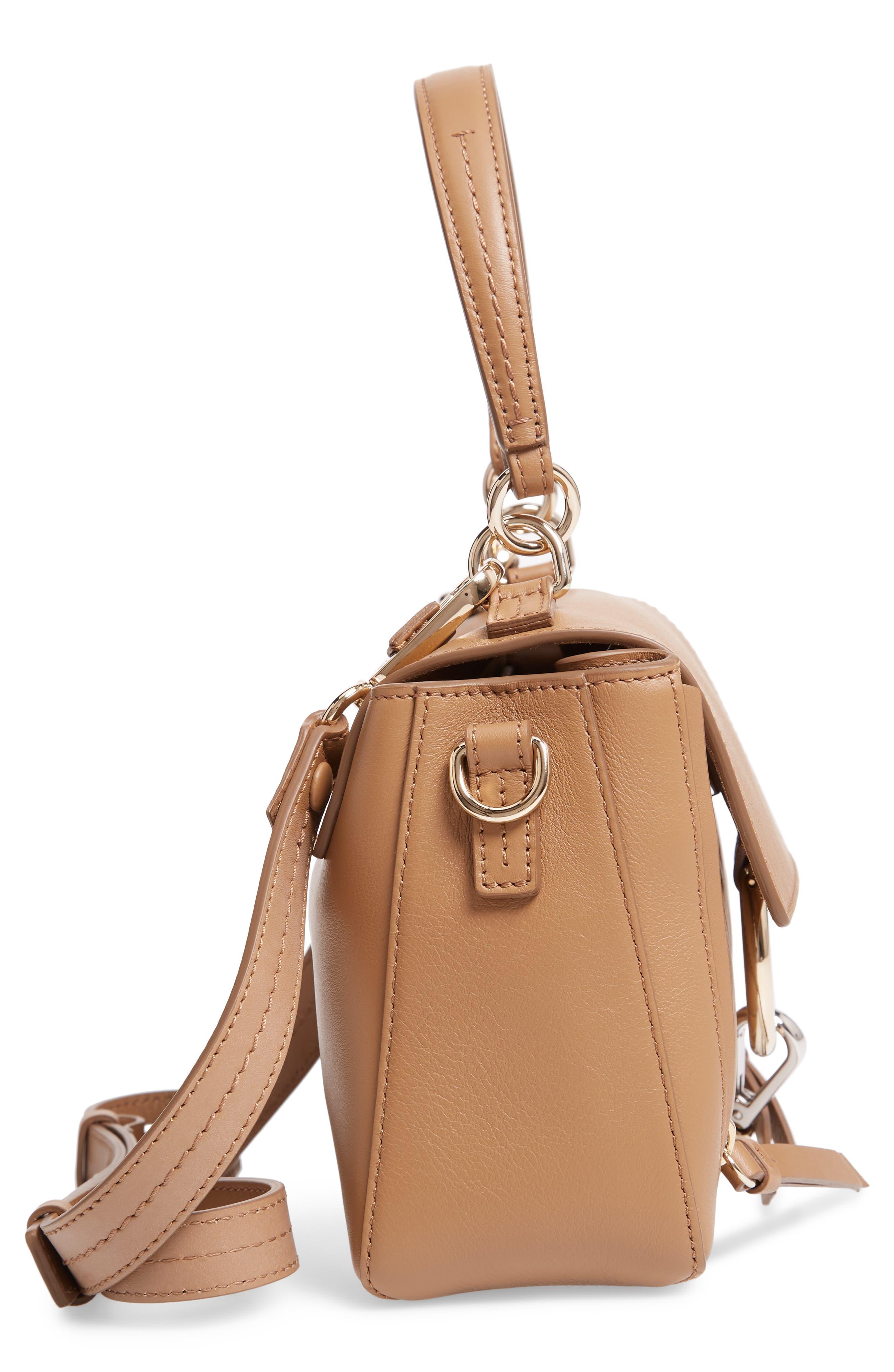 Mini Faye Day Leather Satchel,                             Alternate thumbnail 5, color,                             NUT