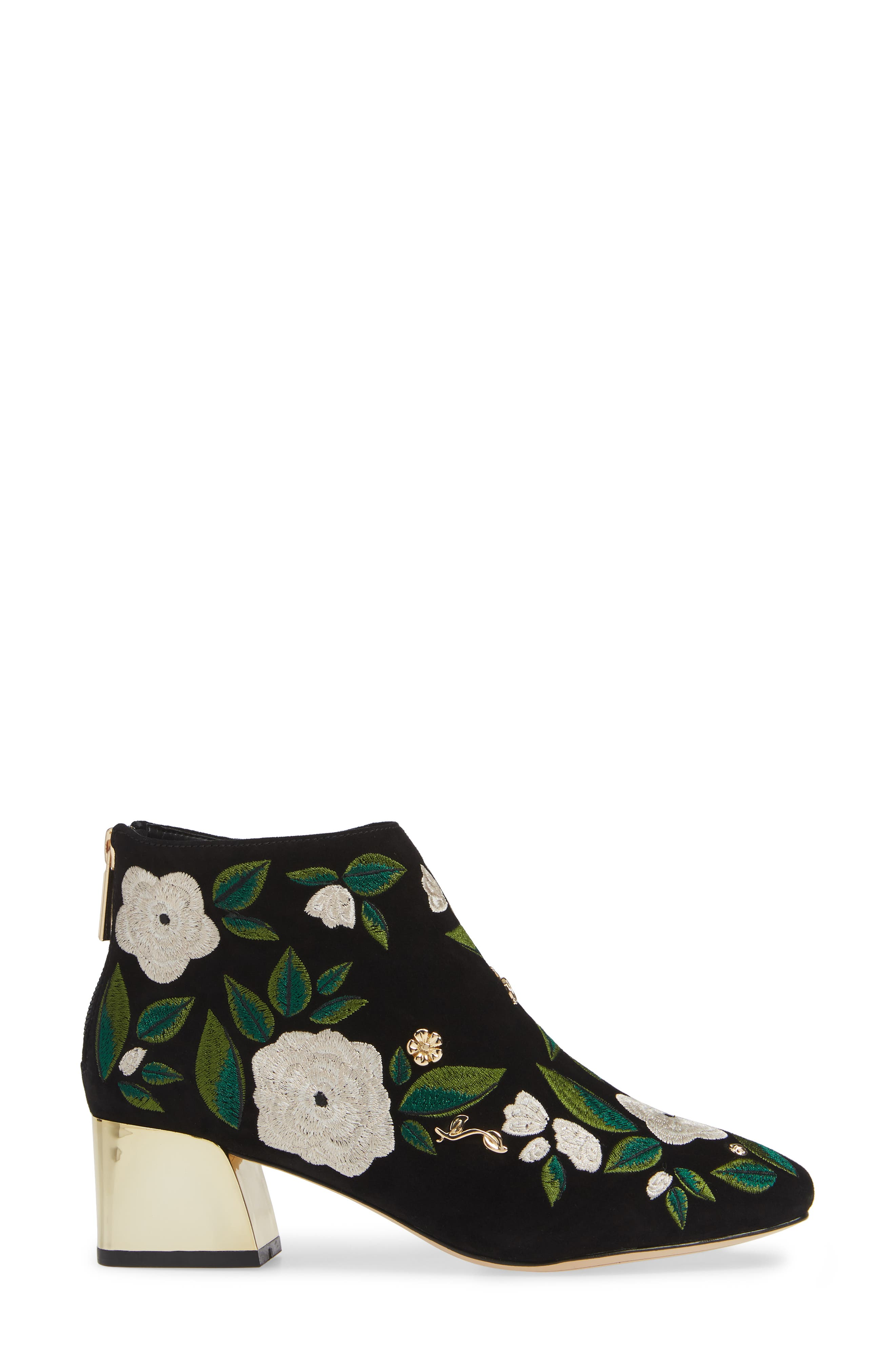 KARL LAGERFELD PARIS,                             Harlow Bootie,                             Alternate thumbnail 3, color,                             002