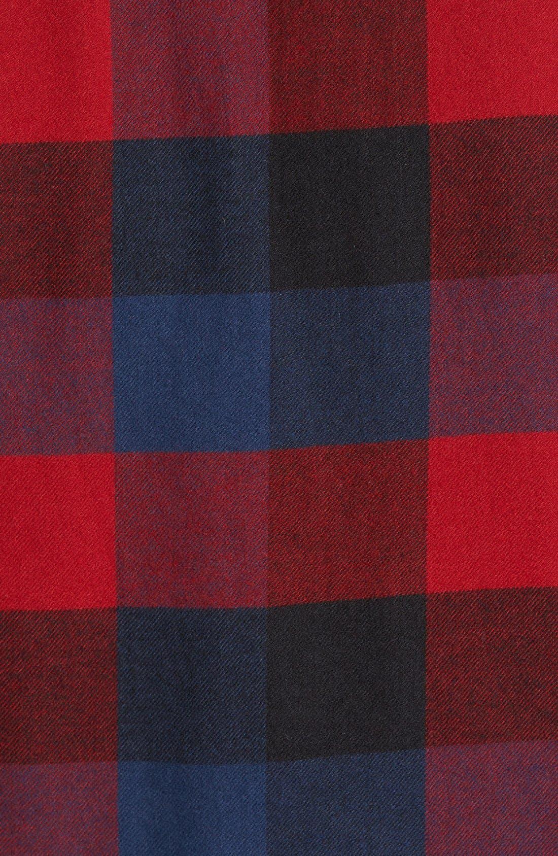 Trim Fit Check Flannel Woven Shirt,                             Alternate thumbnail 20, color,