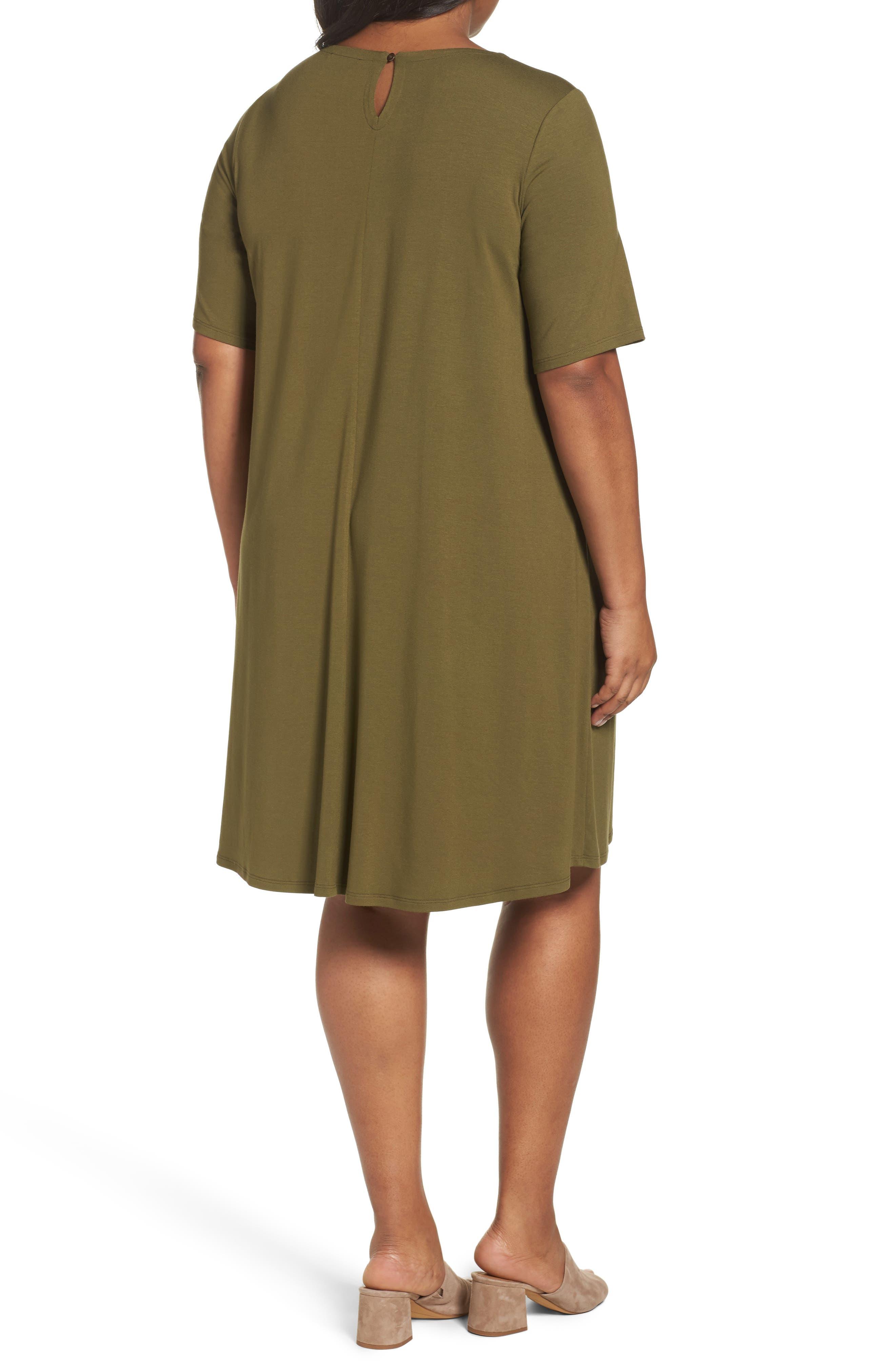 Stretch Jersey Shift Dress,                             Alternate thumbnail 6, color,