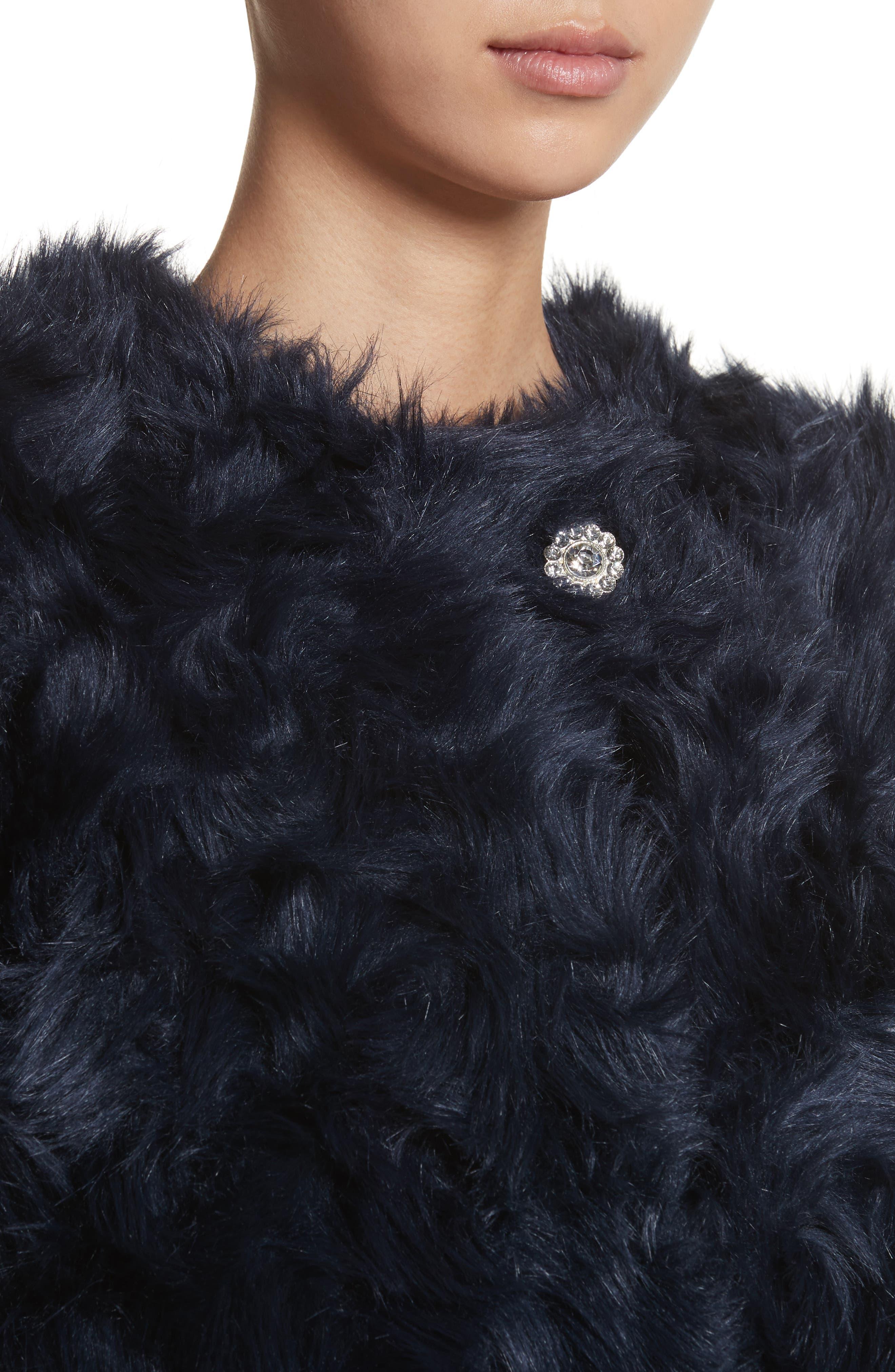 Sofia Faux Fur Jacket,                             Alternate thumbnail 4, color,                             400