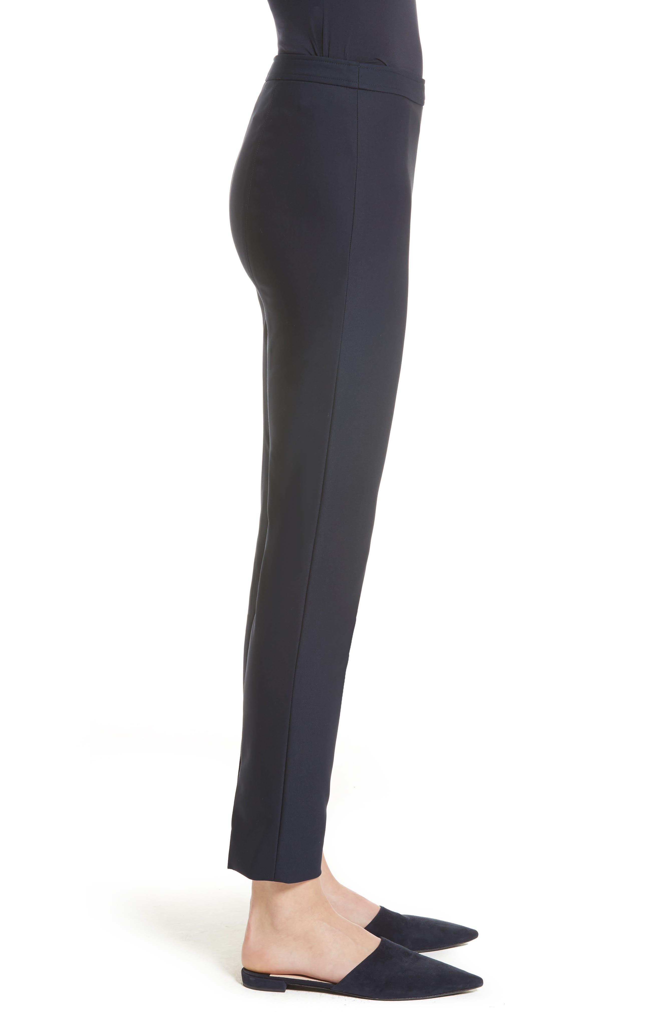 Alexa Scuba Slim Crop Pants,                             Alternate thumbnail 3, color,                             NAVY