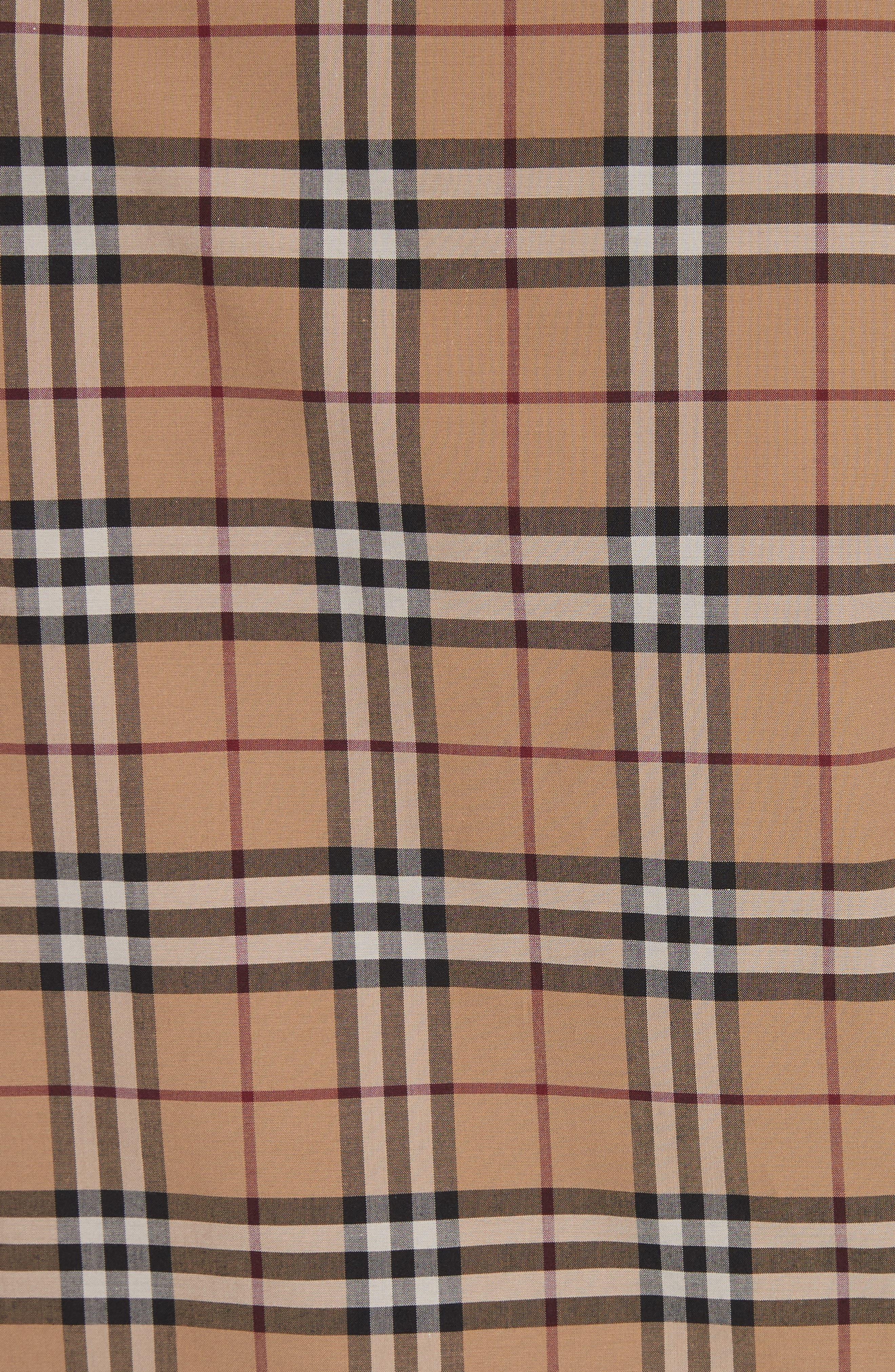 Vintage Check Cotton Shirt,                             Alternate thumbnail 5, color,                             231