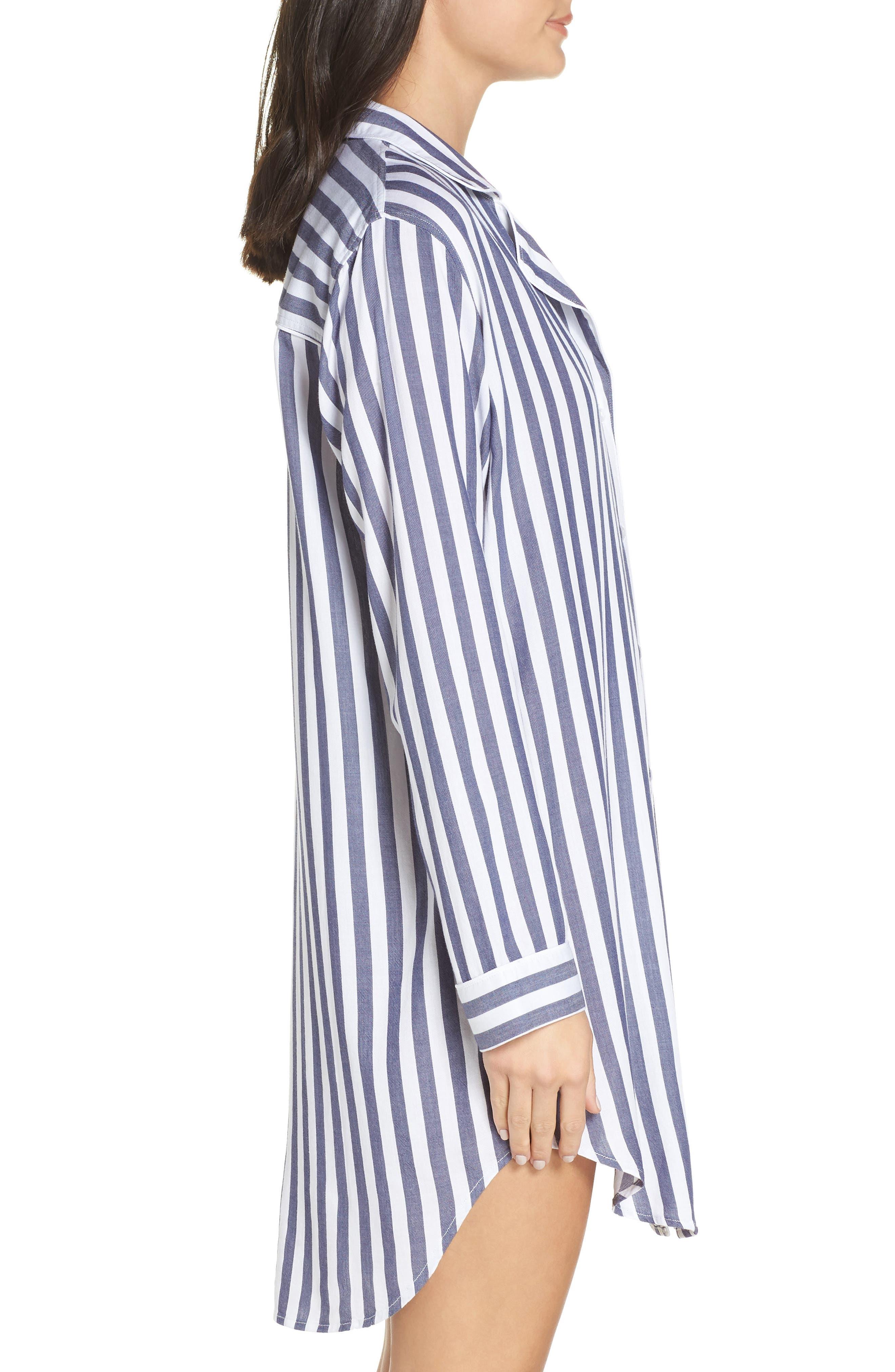 RAILS,                             Striped Sleep Shirt,                             Alternate thumbnail 3, color,                             434