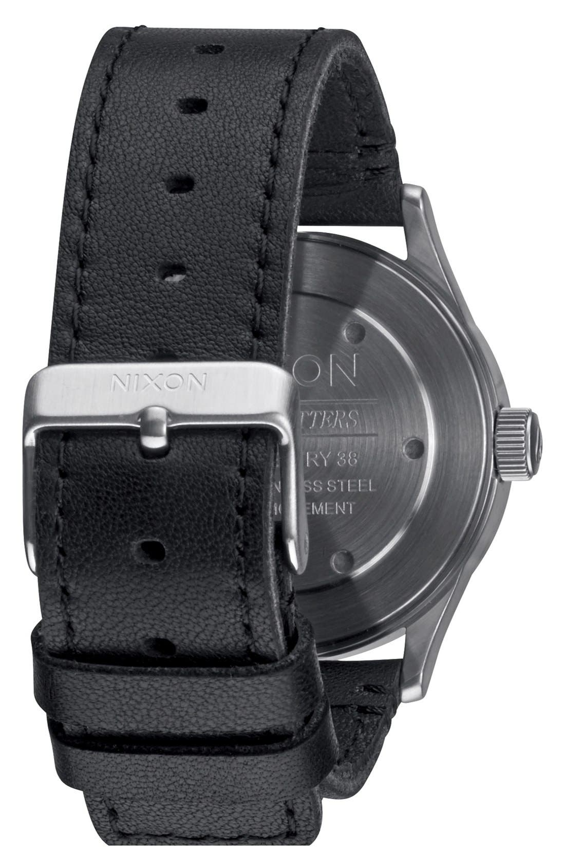 'The Sentry 38' Leather Strap Watch, 38mm,                             Alternate thumbnail 23, color,