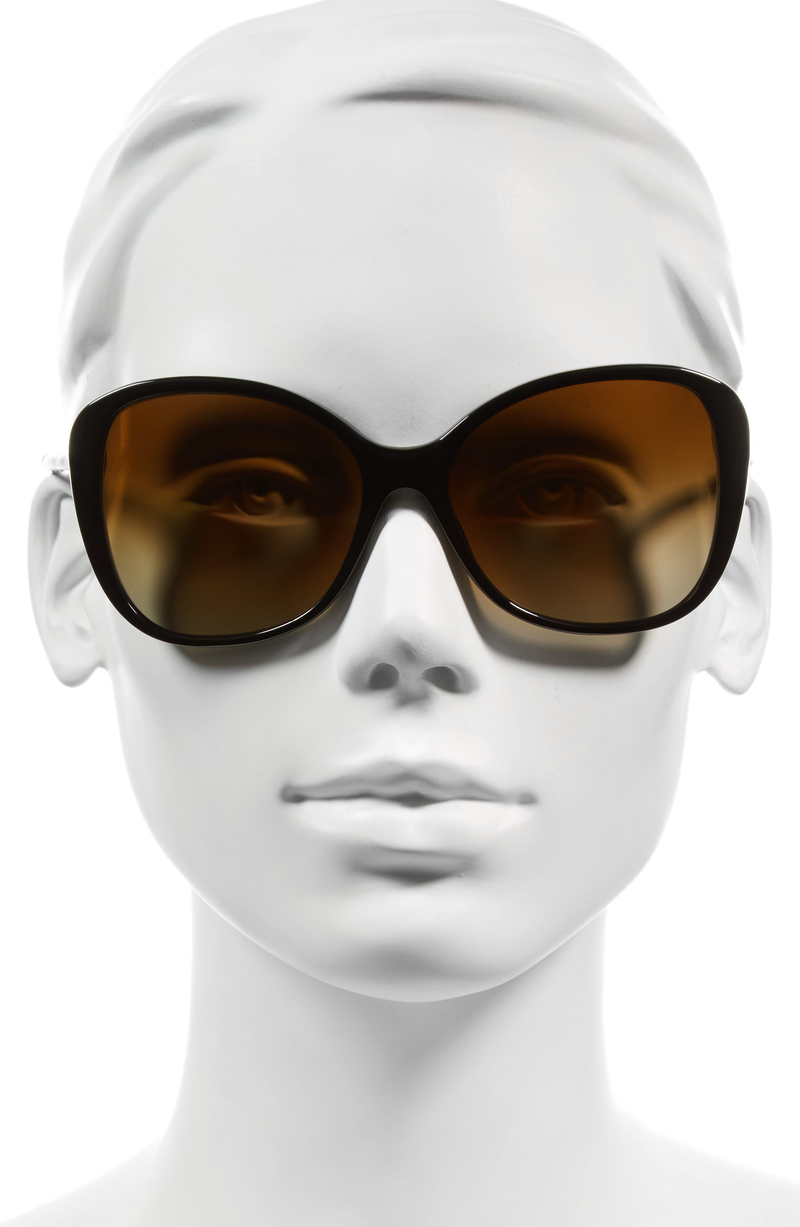 57mm Polarized Sunglasses,                             Alternate thumbnail 2, color,                             001
