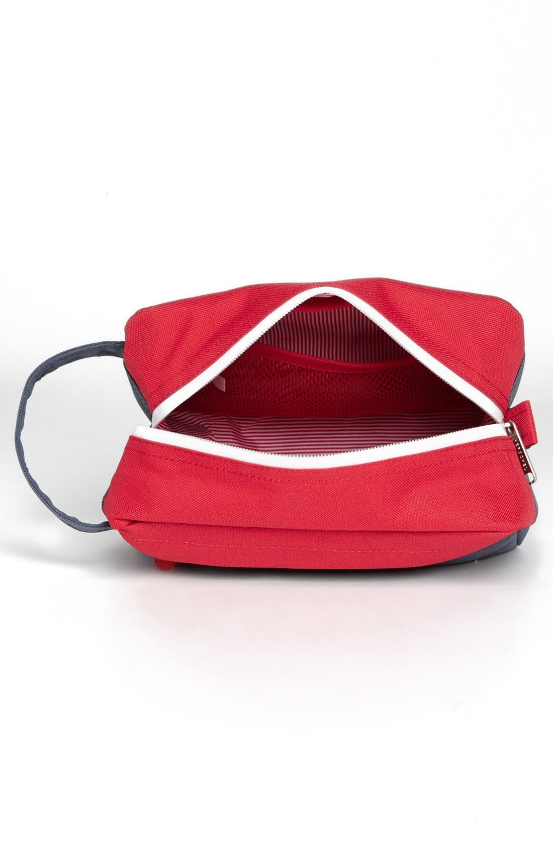 'Chapter' Toiletry Case,                             Alternate thumbnail 3, color,                             NAVY/ RED