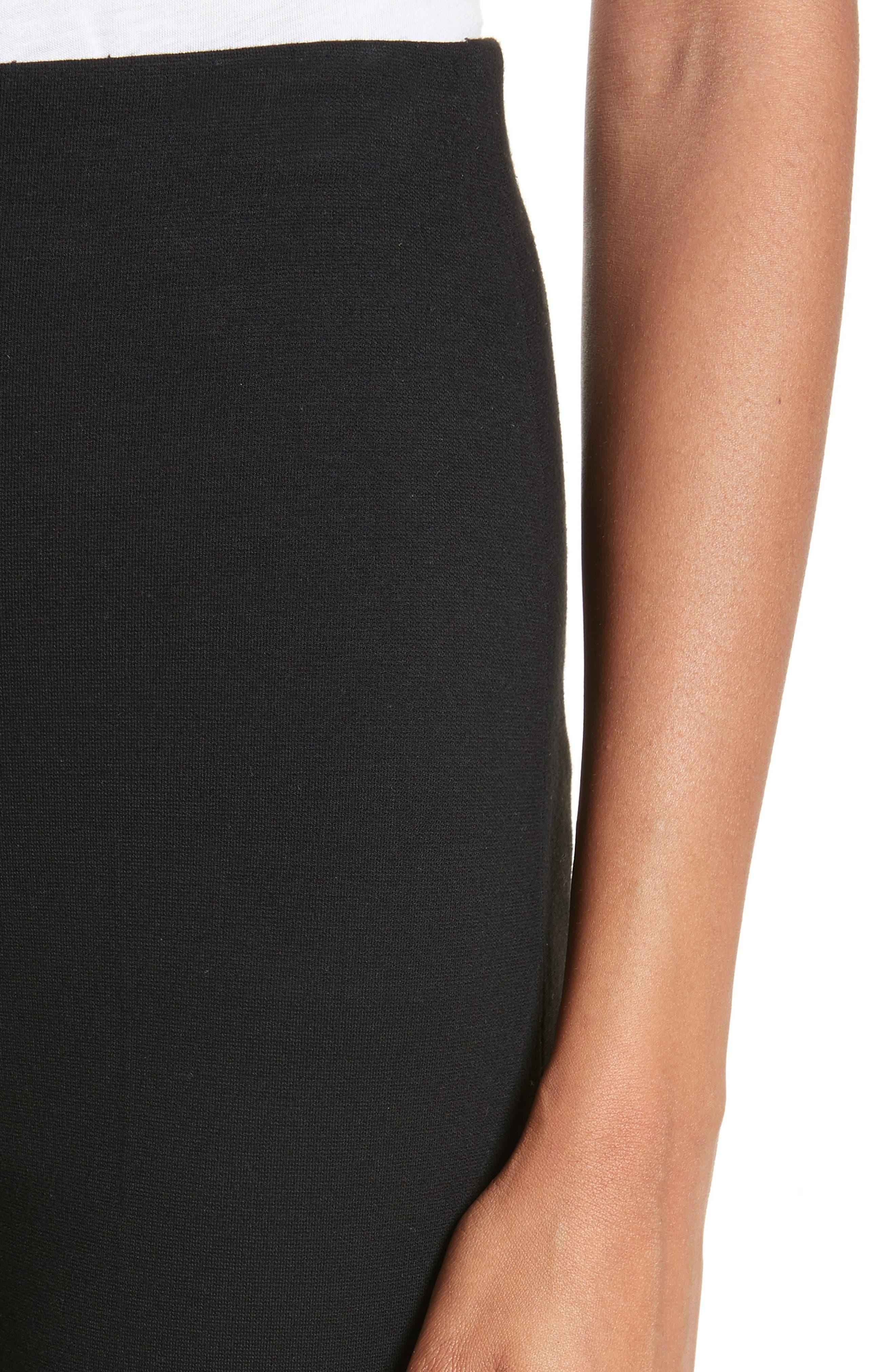 Jersey Flare Pants,                             Alternate thumbnail 4, color,                             BLACK