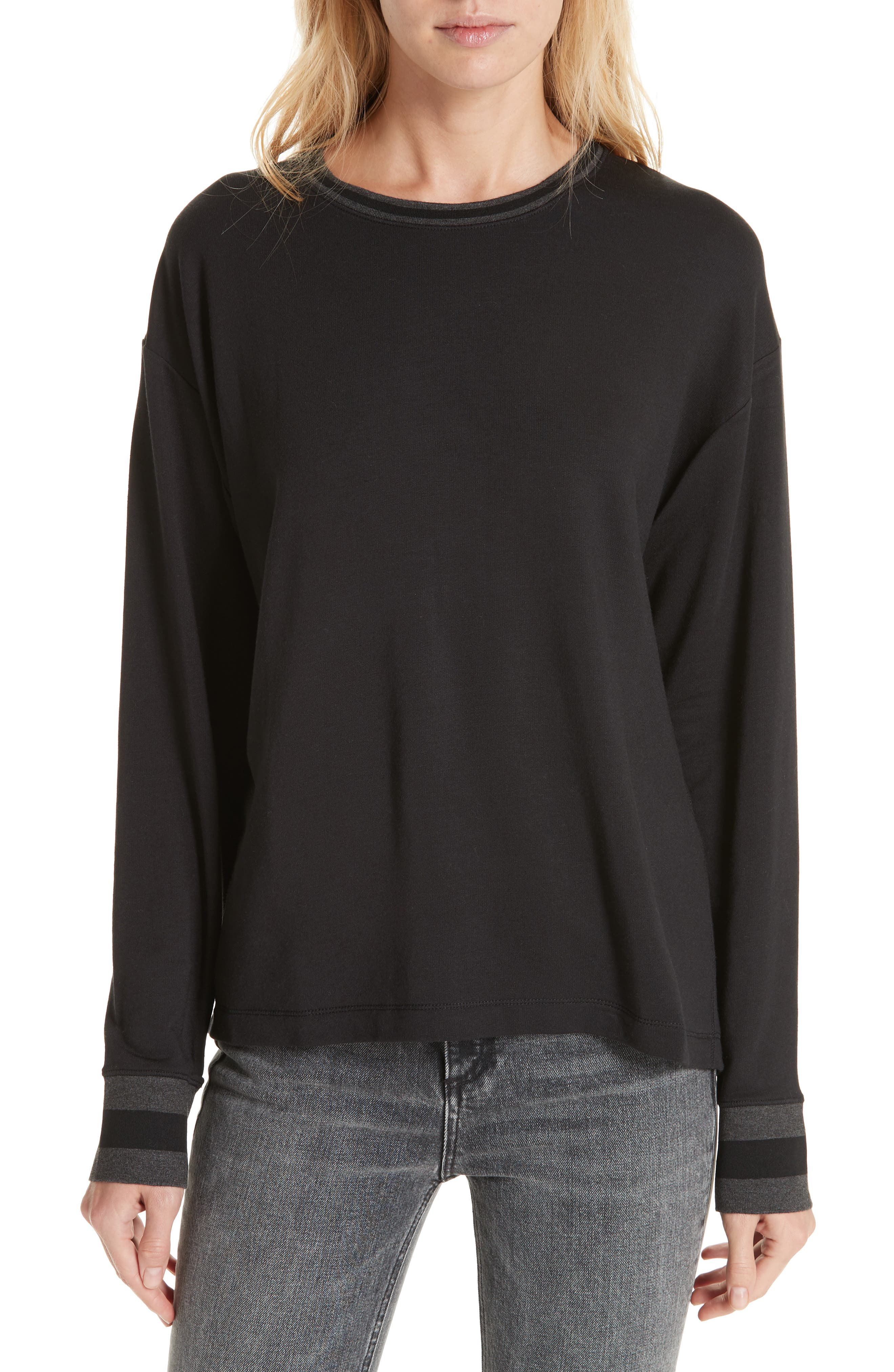 Reily Split Back Top,                         Main,                         color, BLACK